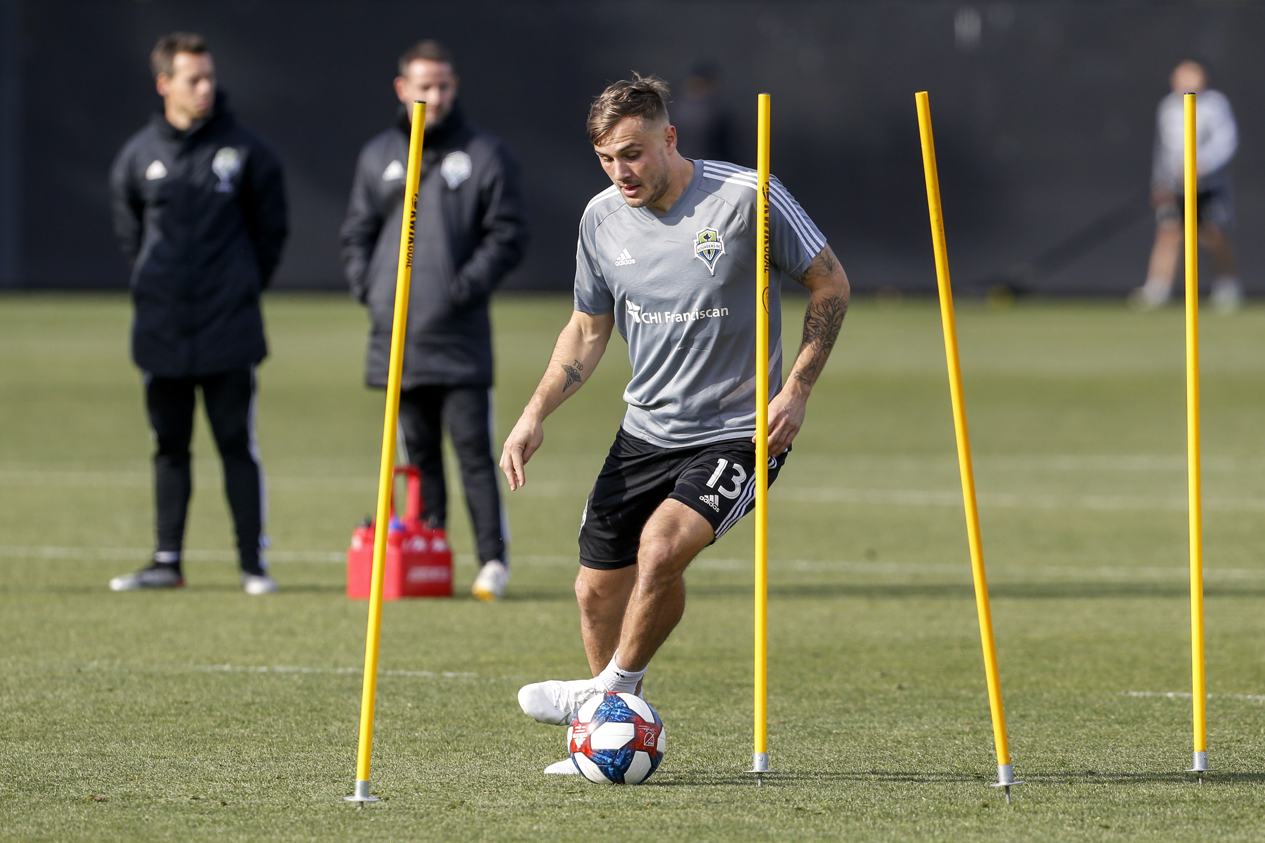 MLS: MLS Cup-Seattle Sounders FC Training