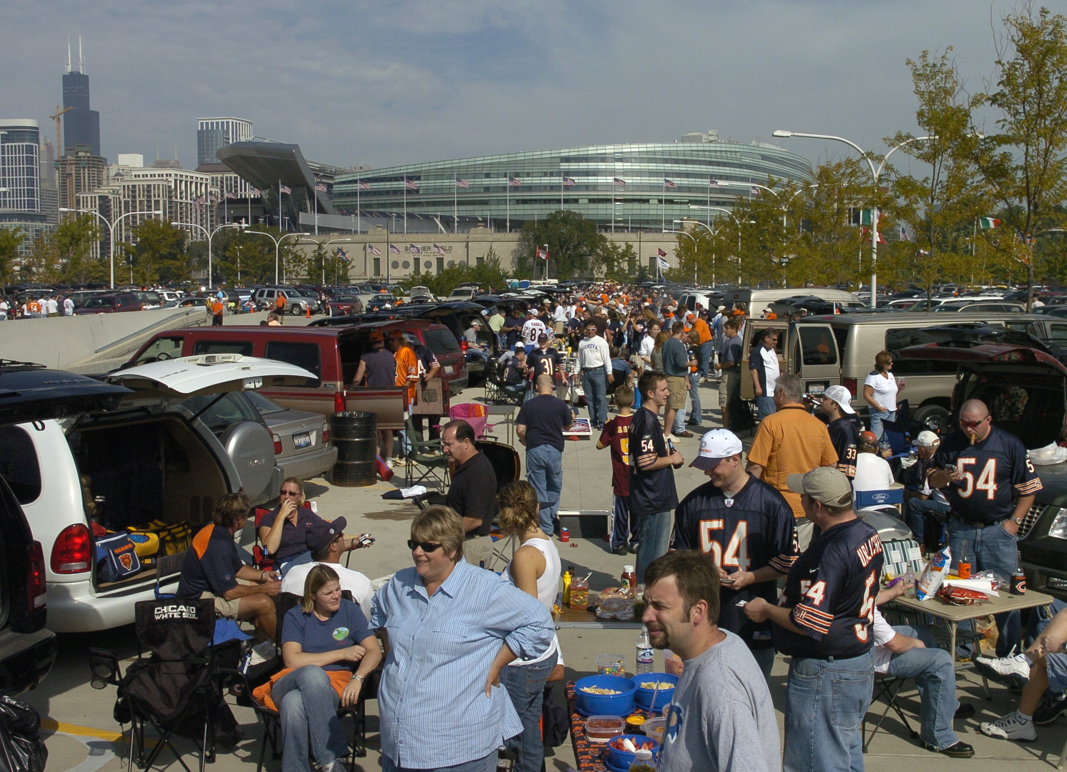 Bears tailgaters at Soldier Field
