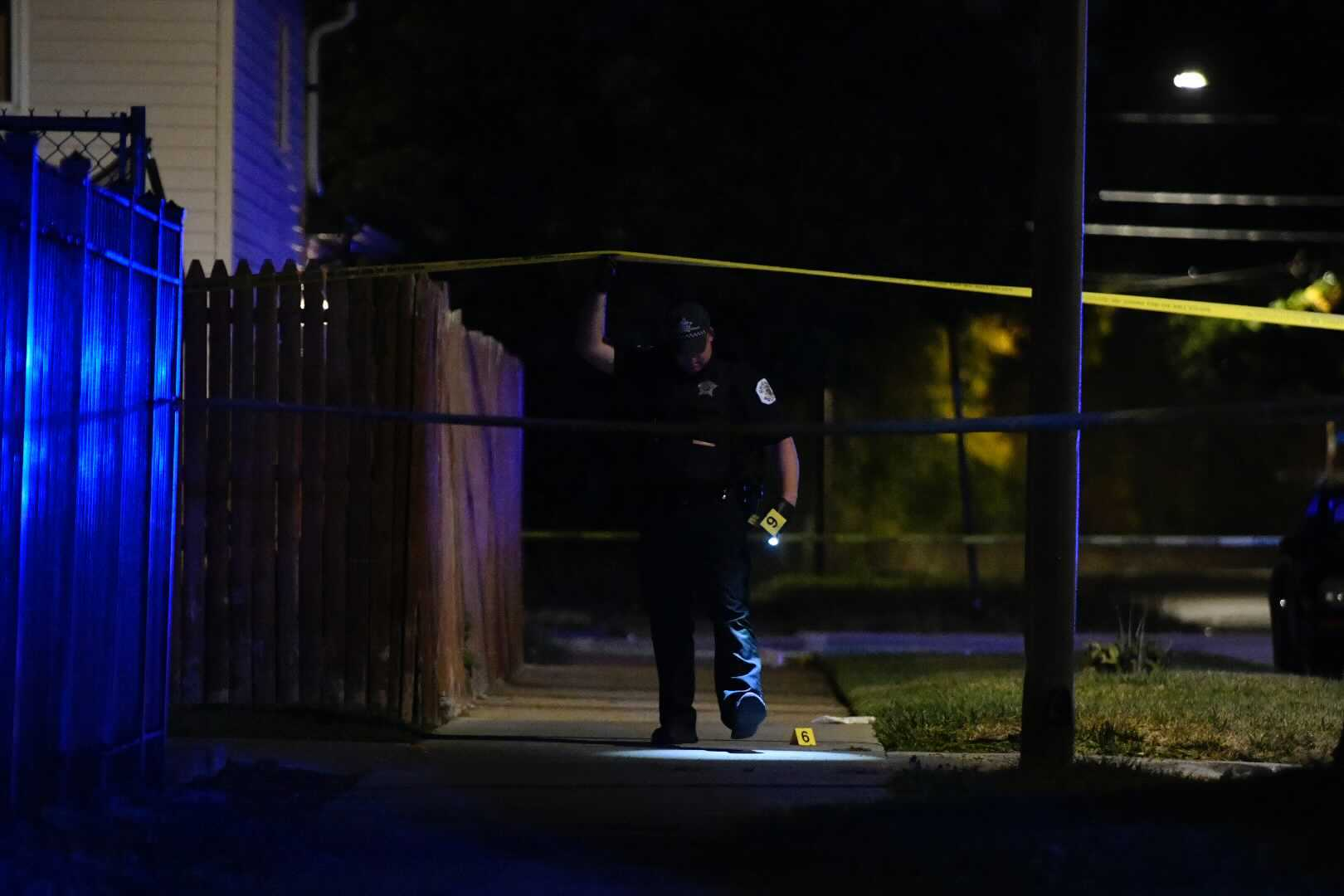 Three people were wounded in a shooting Sept. 29, 2021, in Morgan Park.