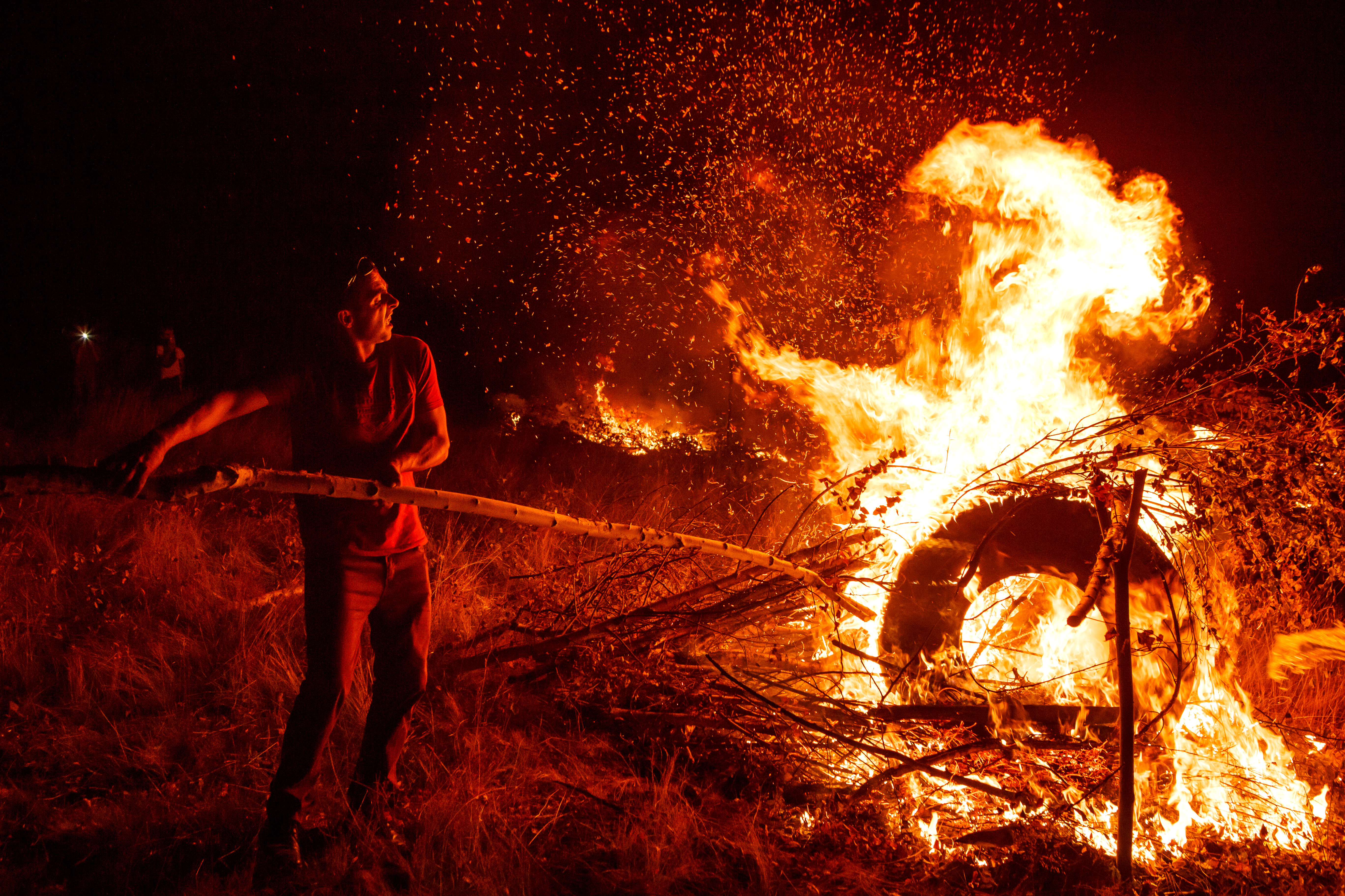 Burning subitky in Zakarpattia Region