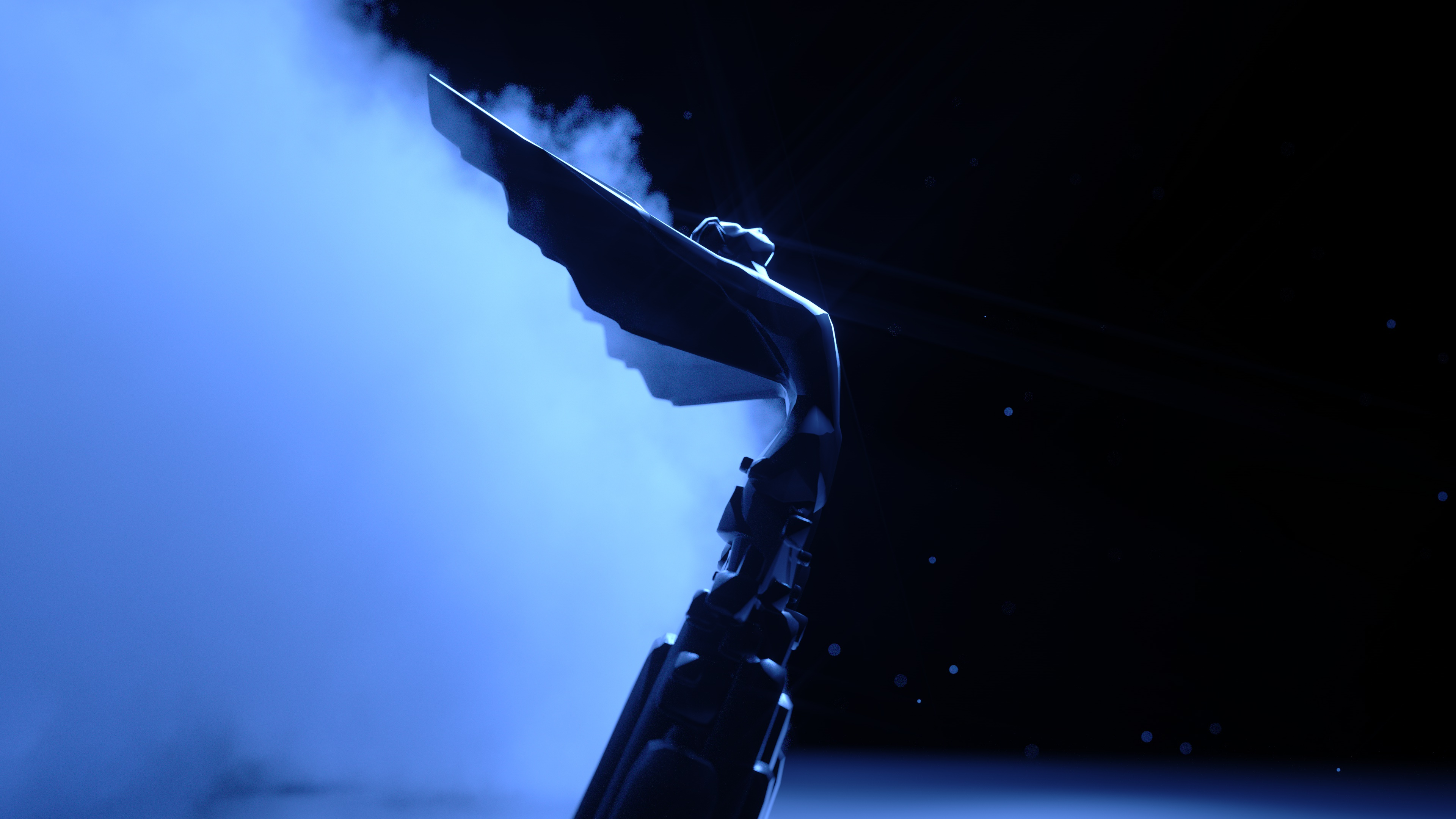 The Game Award on a dark background with smoke