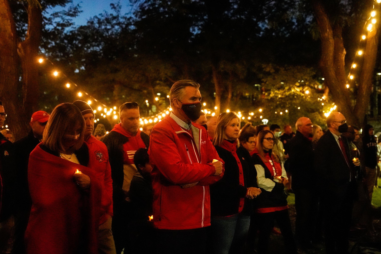 A candlelight vigil is help for slain University of Utah student Aaron Lowe.