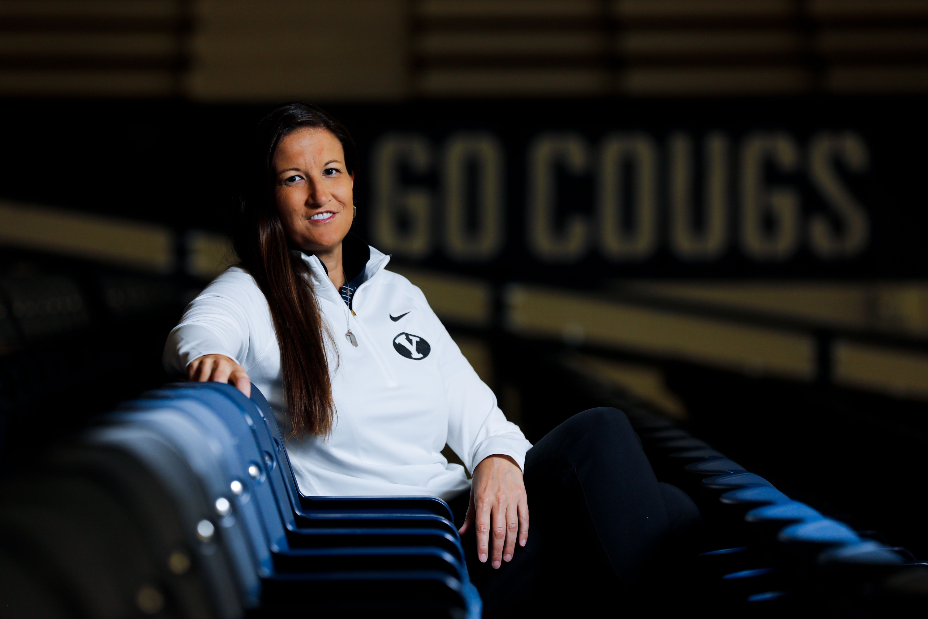 Liz Darger poses for a portrait at the Student Athlete Building in Provo on Monday, Sept. 27, 2021.
