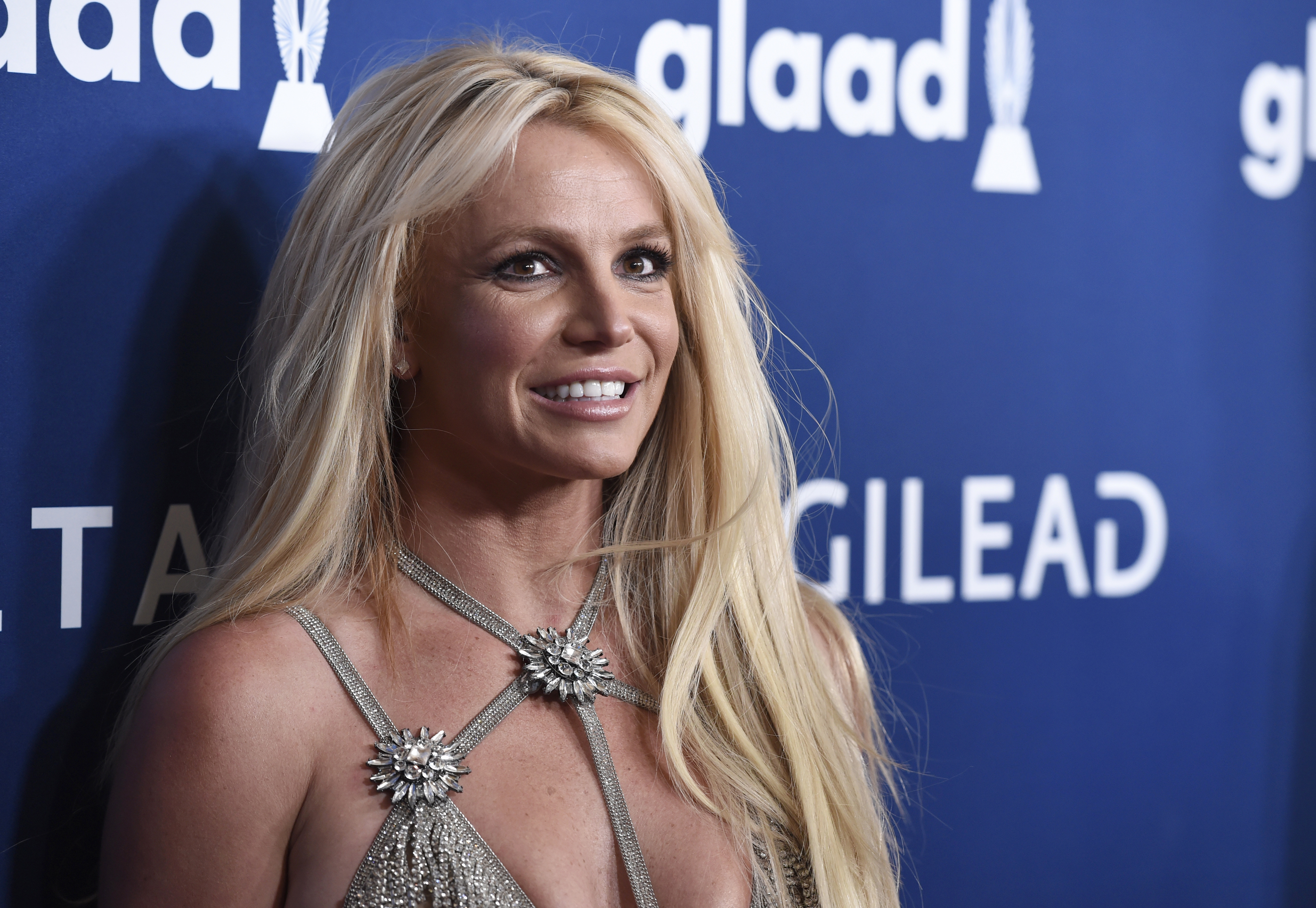 Britney Spears arrives at the 29th annual GLAAD Media Awards on April 12, 2018, in Beverly Hills, Calif.