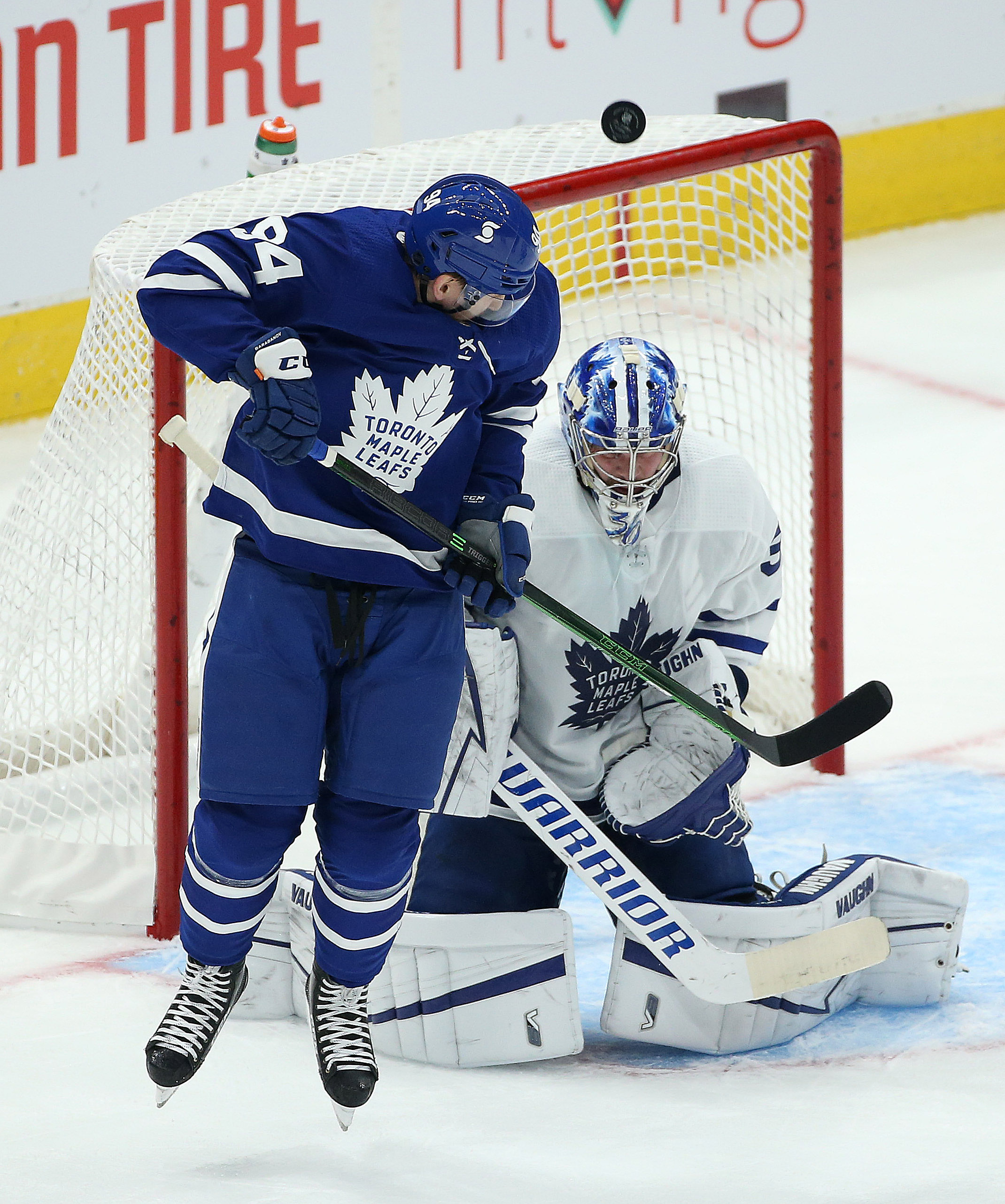 the Toronto Maple Leafs hold their annual Blue versus White inter-squad game