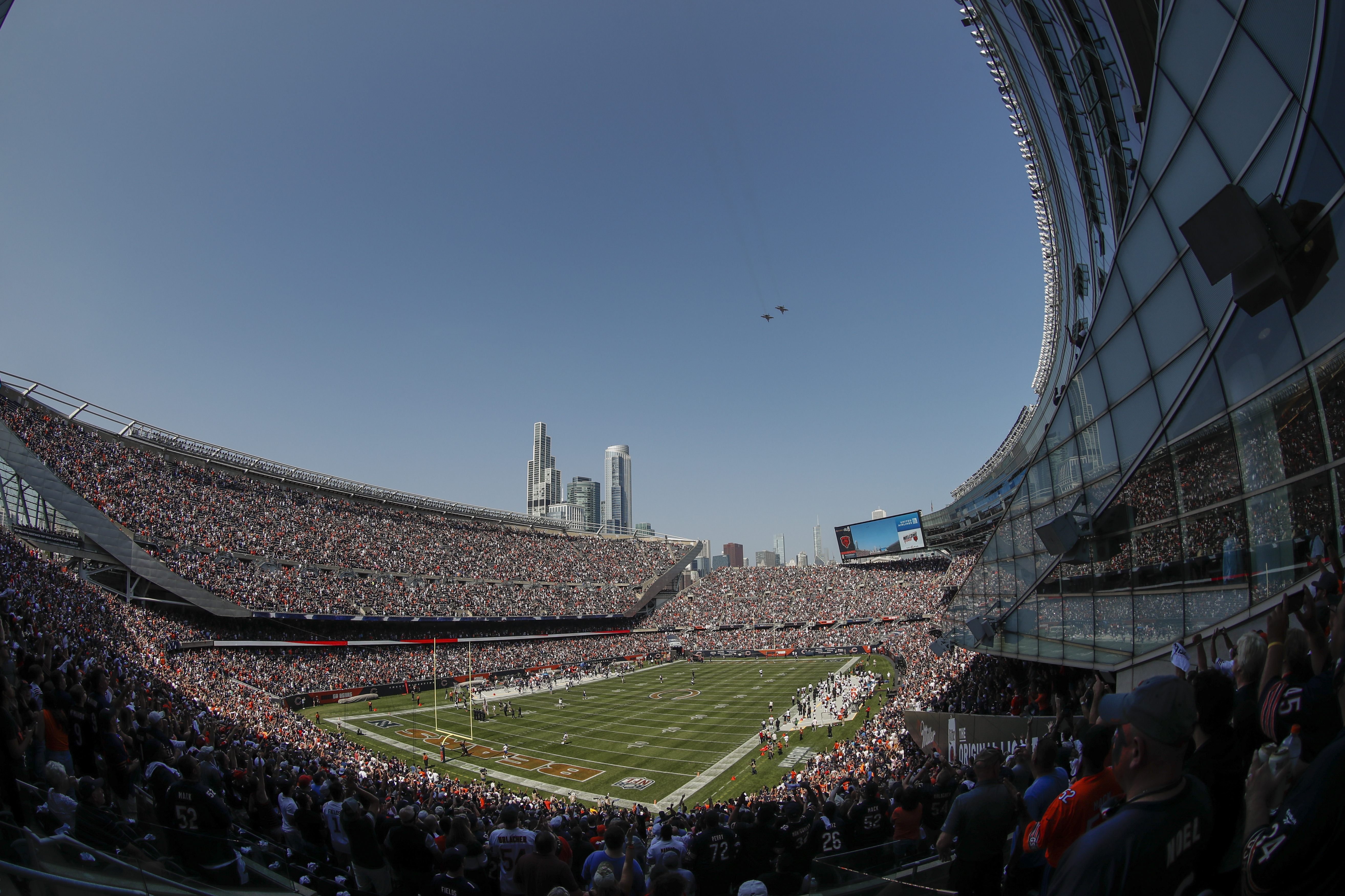 The Chicago Bears are taking steps that would enable them to leave Soldier Field.