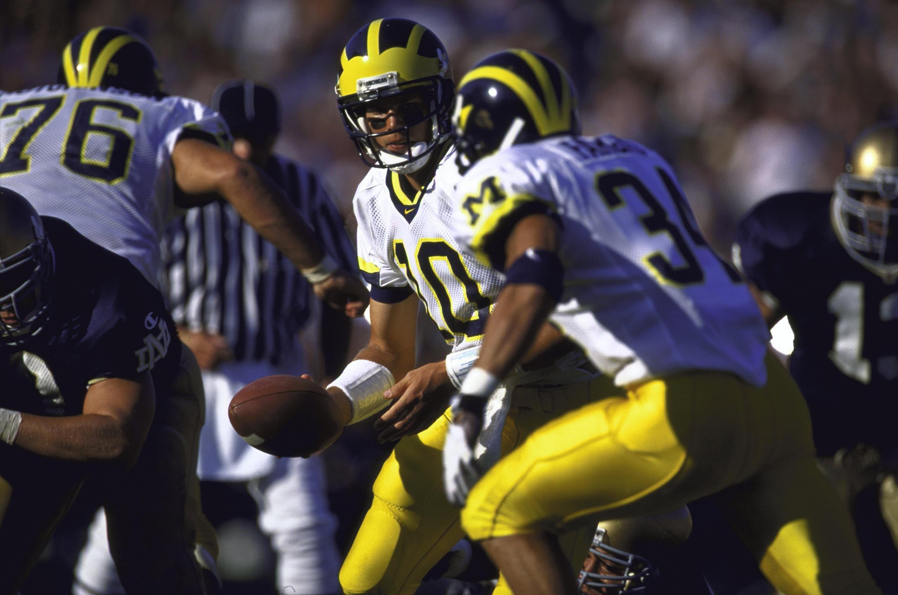 University of Michigan QB Tom Brady