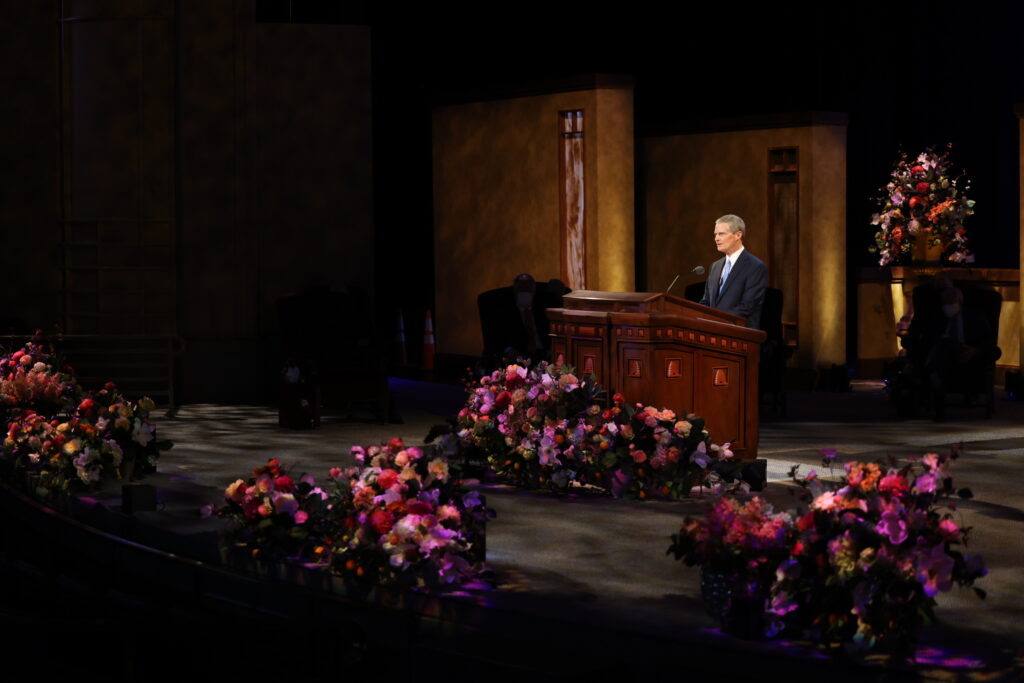 Elder David A. Bednar speaks during the 191st Annual General Conference of The Church of Jesus Christ of Latter-day Saints.