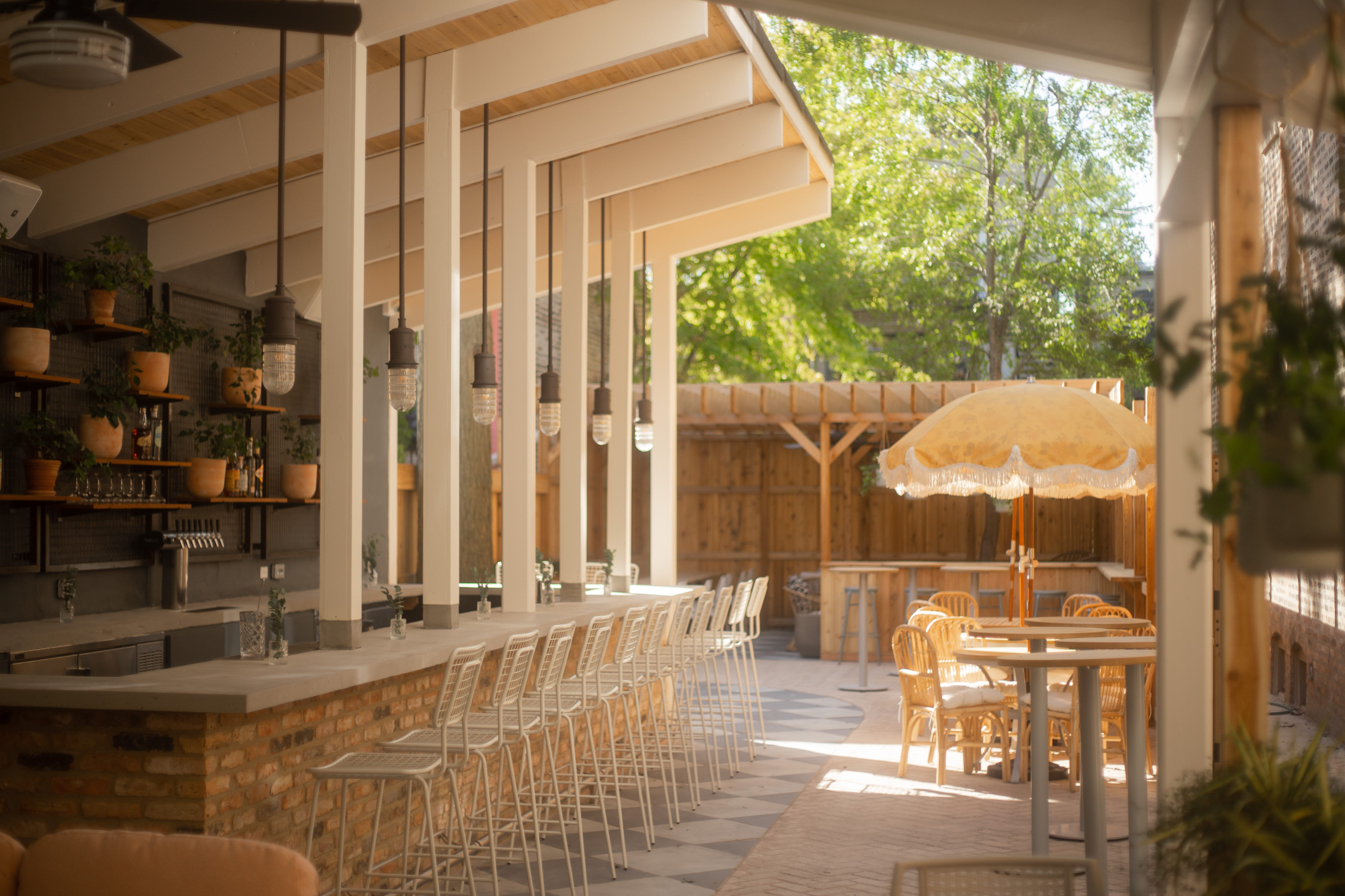 A patio bar.