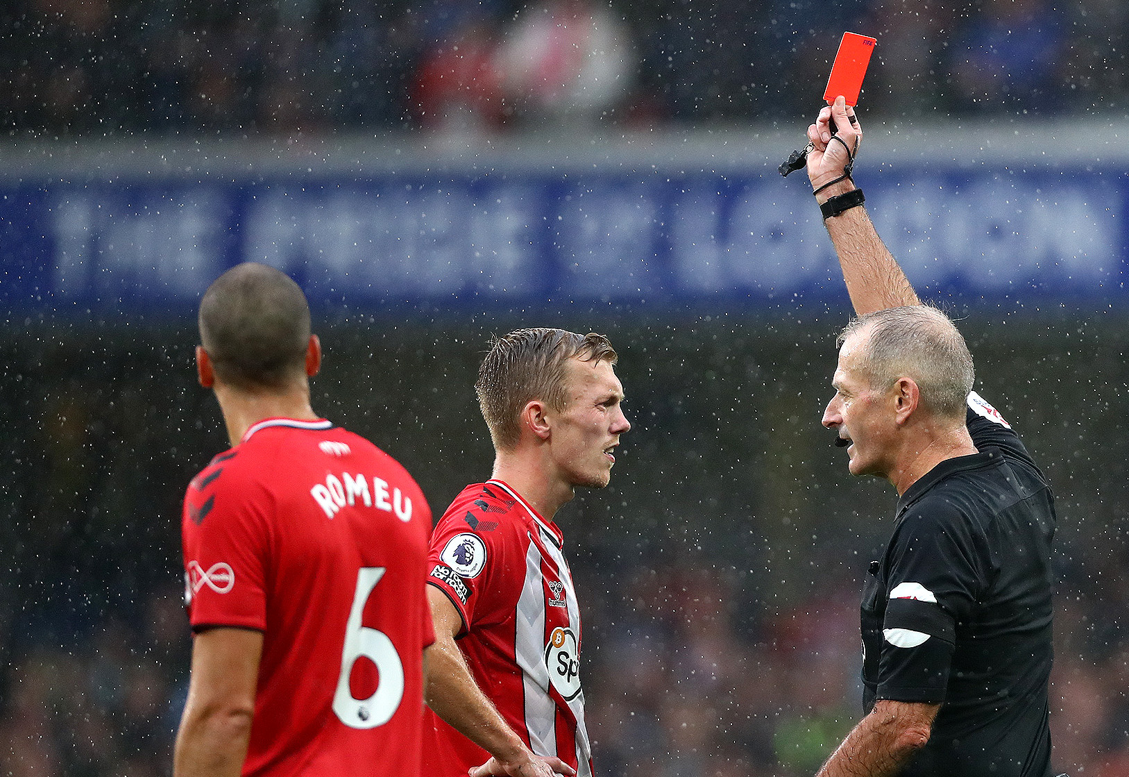 Chelsea v Southampton - Premier League, James Ward-Prowse, red card, suspension, Timo Werner, Ben Chilwell, Chalobah