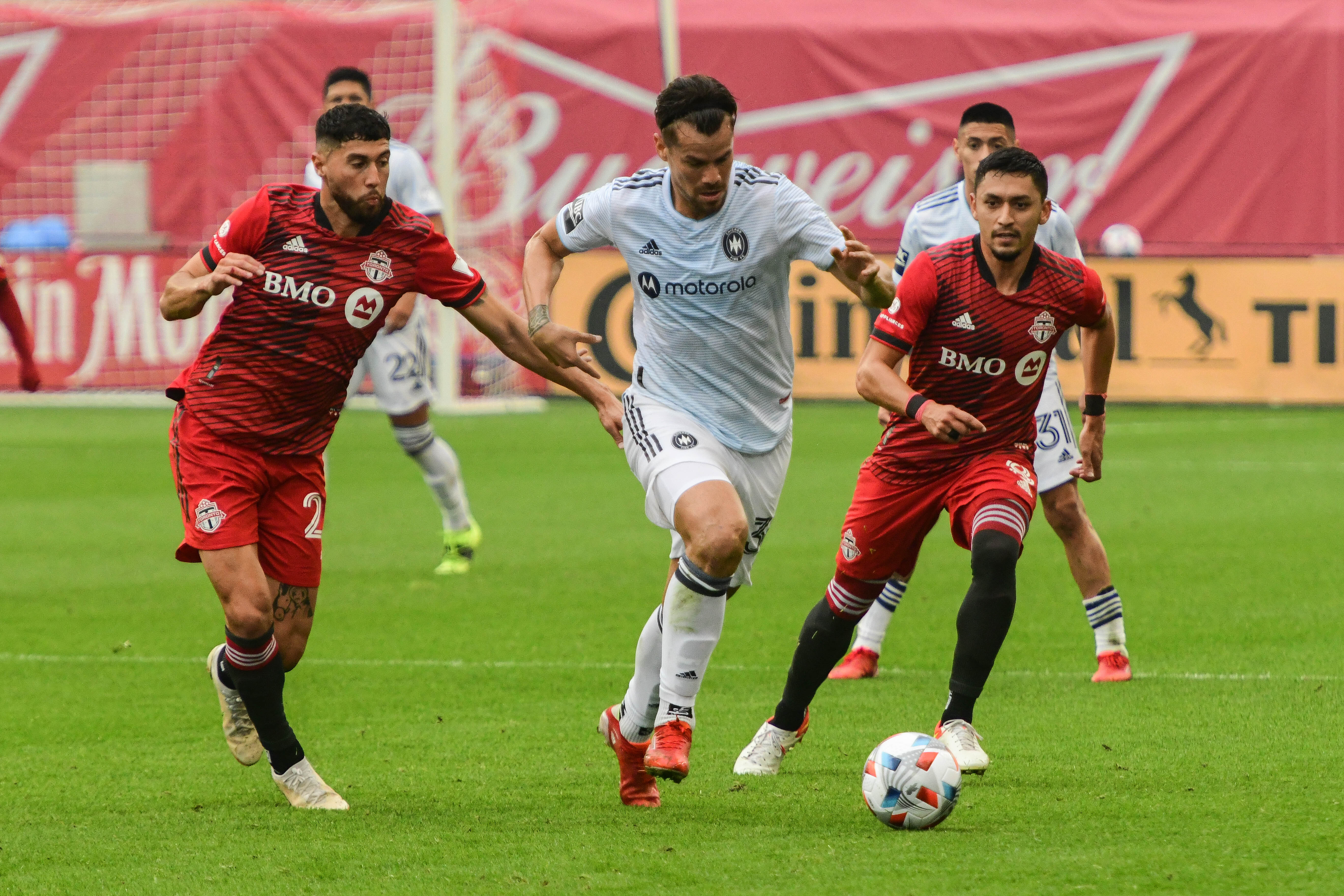 Gaston Gimenez and the Fire lost their first game after Raphael Wicky was dismissed, dropping Sunday's match to Toronto FC.