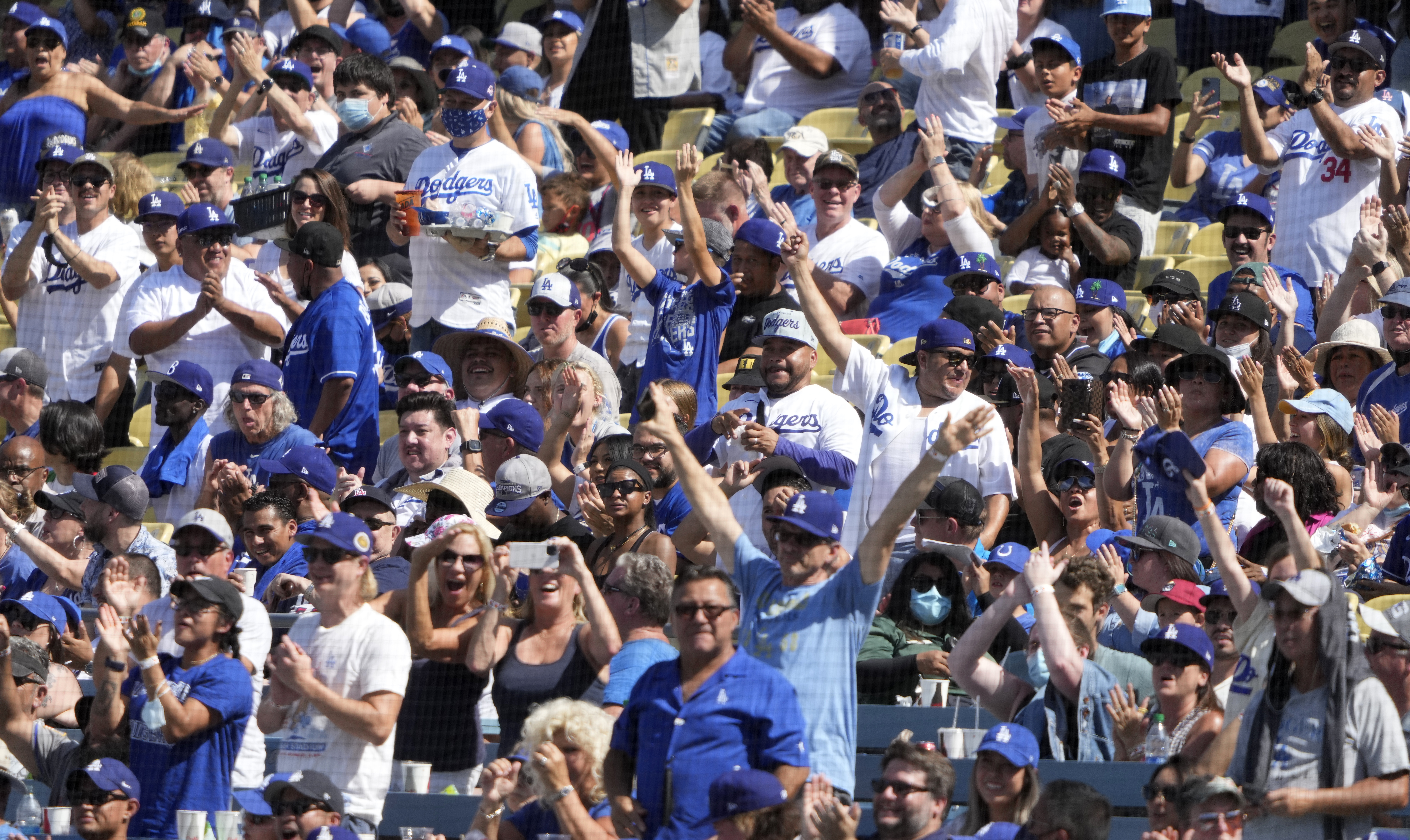 Los Angeles Dodgers defeated Milwaukee Brewers 10-3 during a baseball game at Dodger Stadium in Los Angeles.