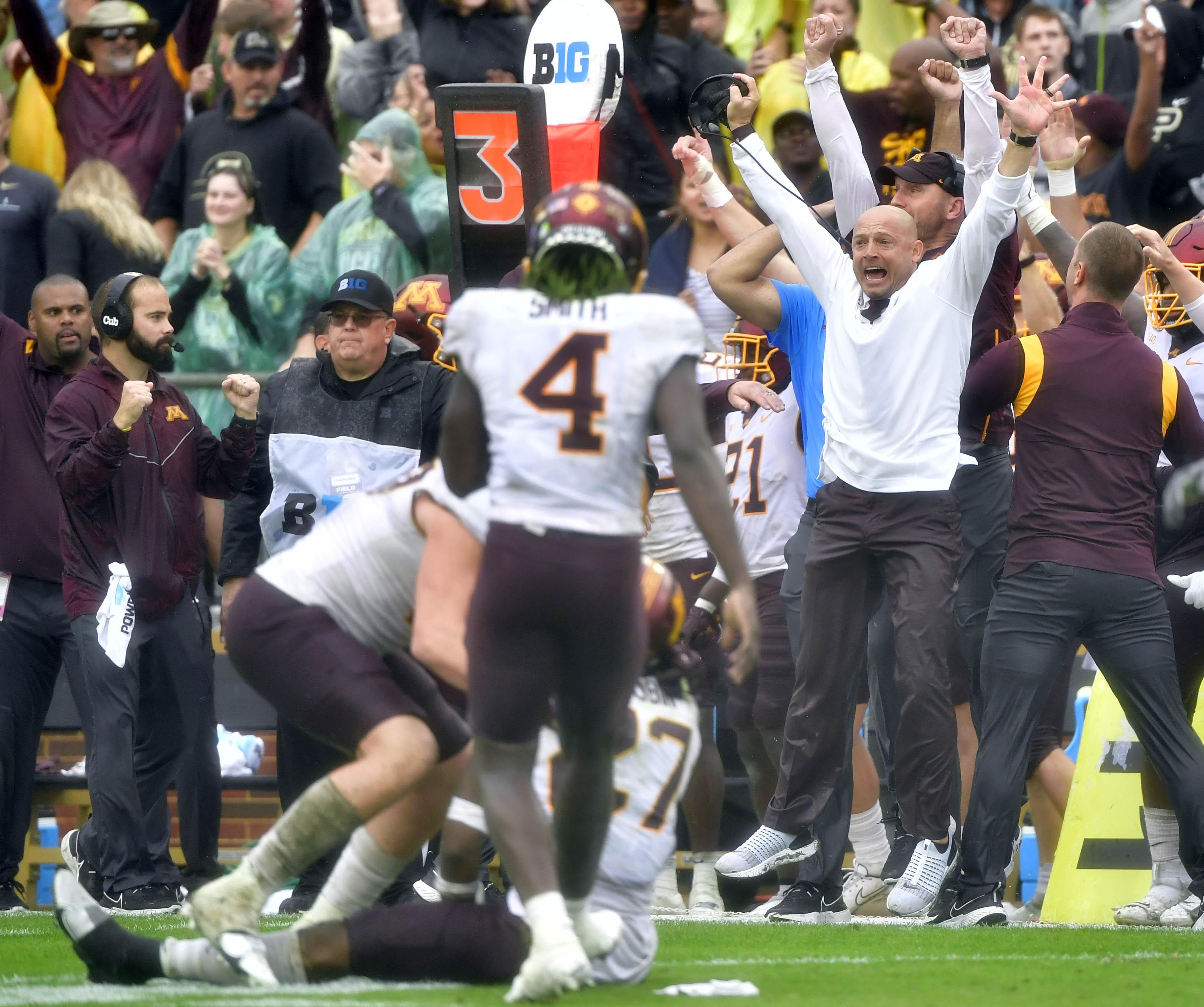 NCAA Football: Minnesota at Purdue
