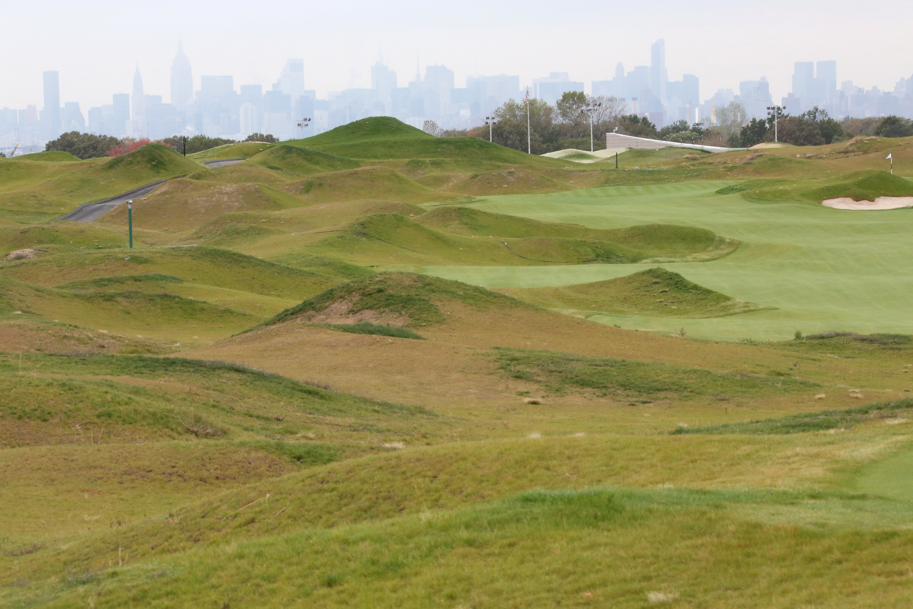 A view of the Trump Golf Links in The Bronx during its 2013 opening.