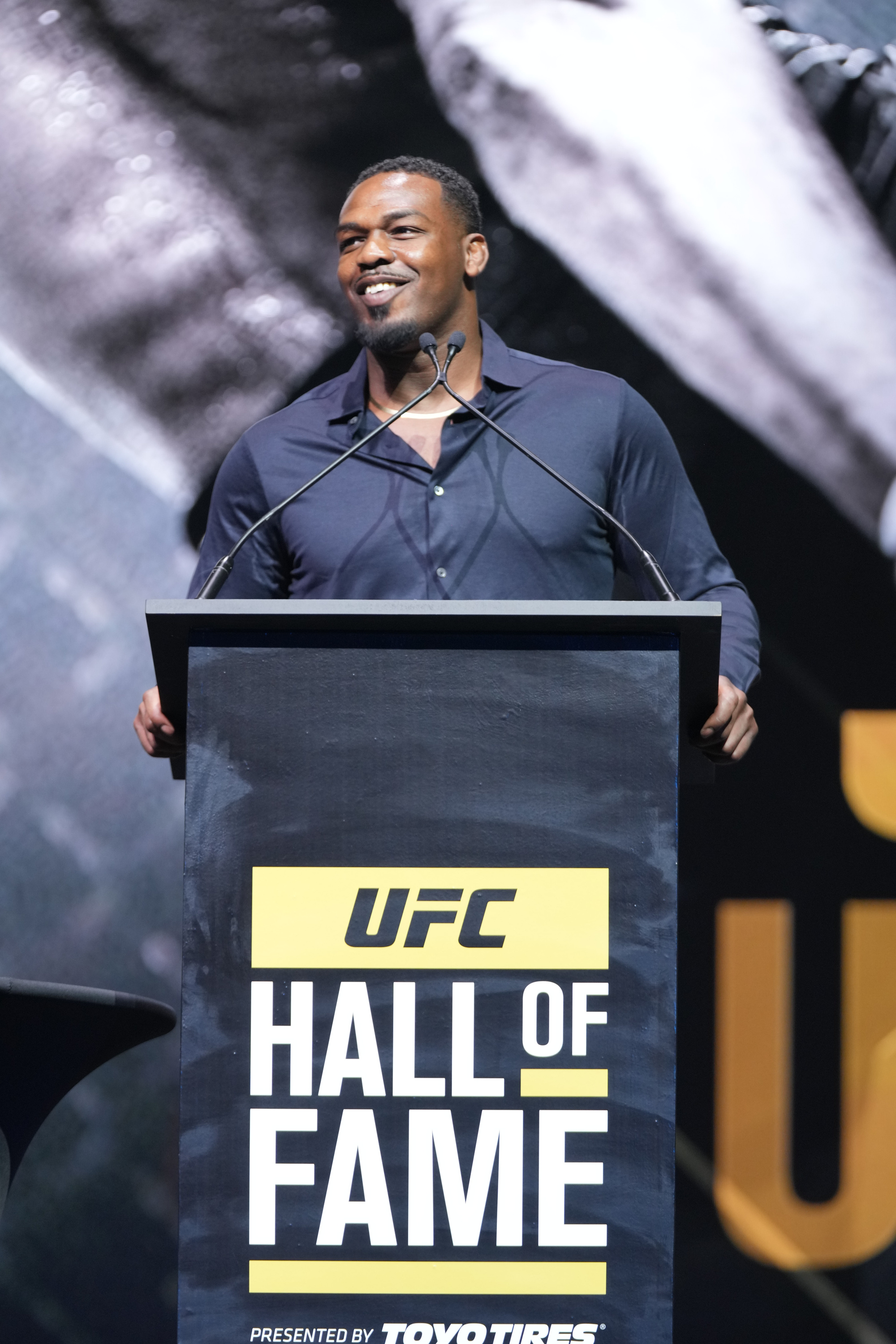 Jon Jones gives his UFC Hall of Fame induction speech hours before his arrest on charges of domestic violence.