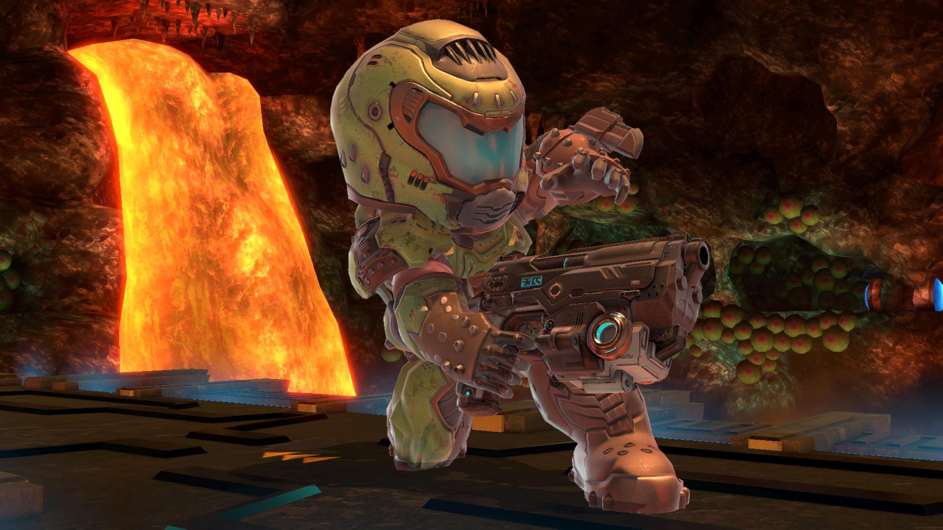 Doom Slayer Mii Fighter in Super Smash Bros. Ultimate