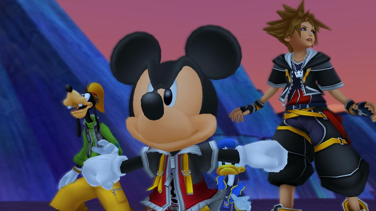 goofy, Micky, and sora in kingdom hearts 3