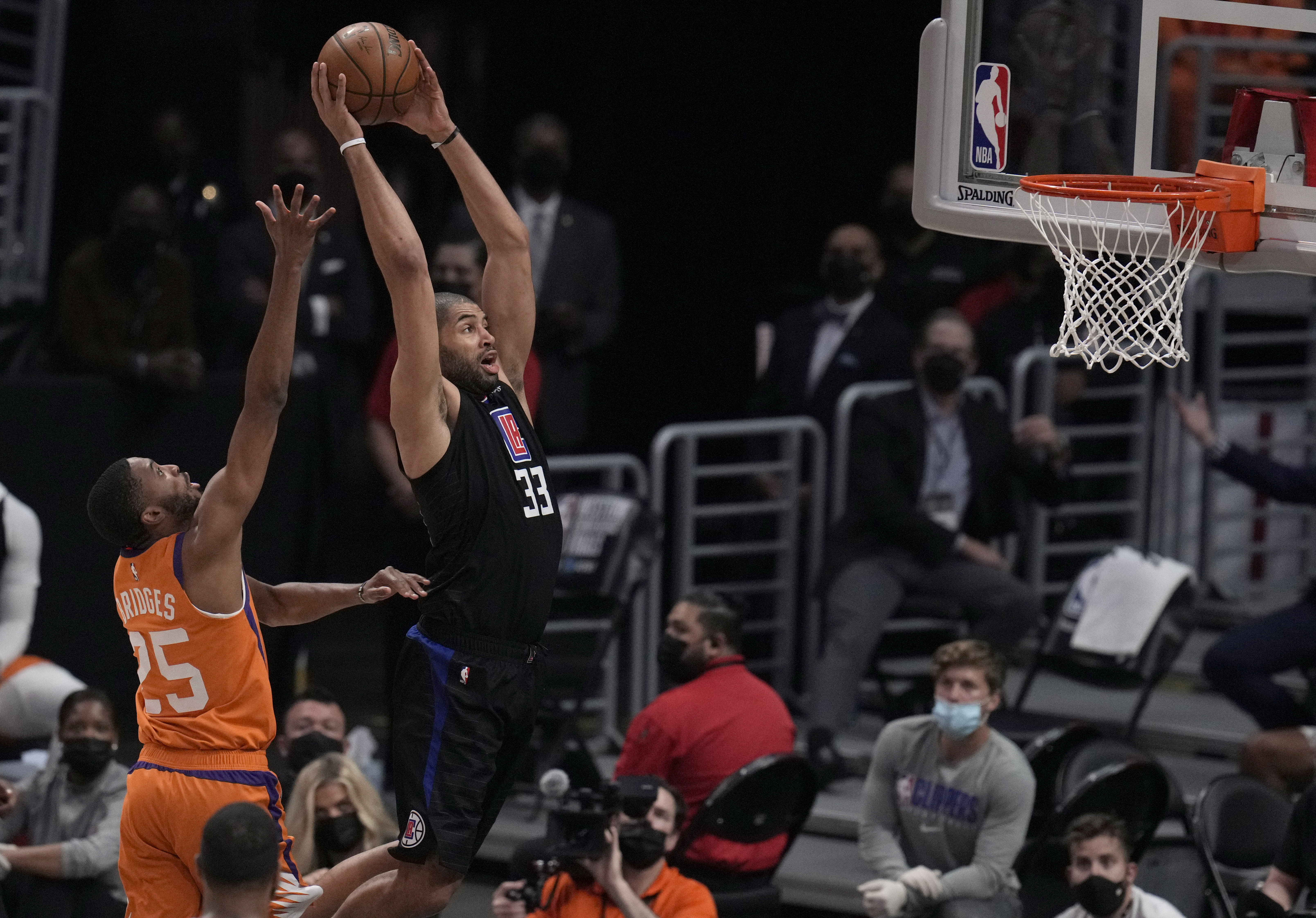 Phoenix Suns defeated the LA Clippers 130-103 during game six of a Western Conference finals NBA playoff basketball game and to advance to the NBA finals.