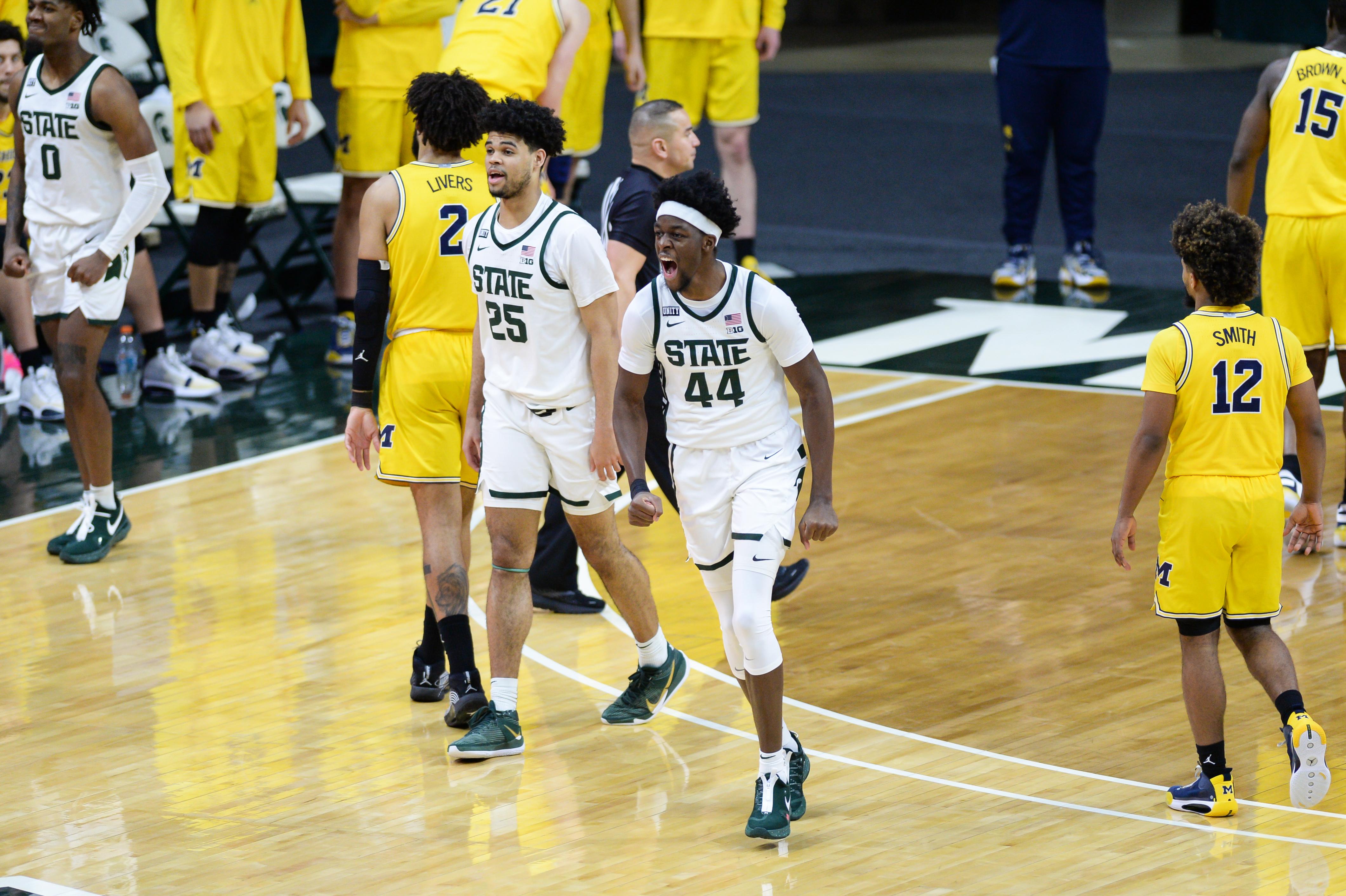 COLLEGE BASKETBALL: MAR 07 Michigan at Michigan State