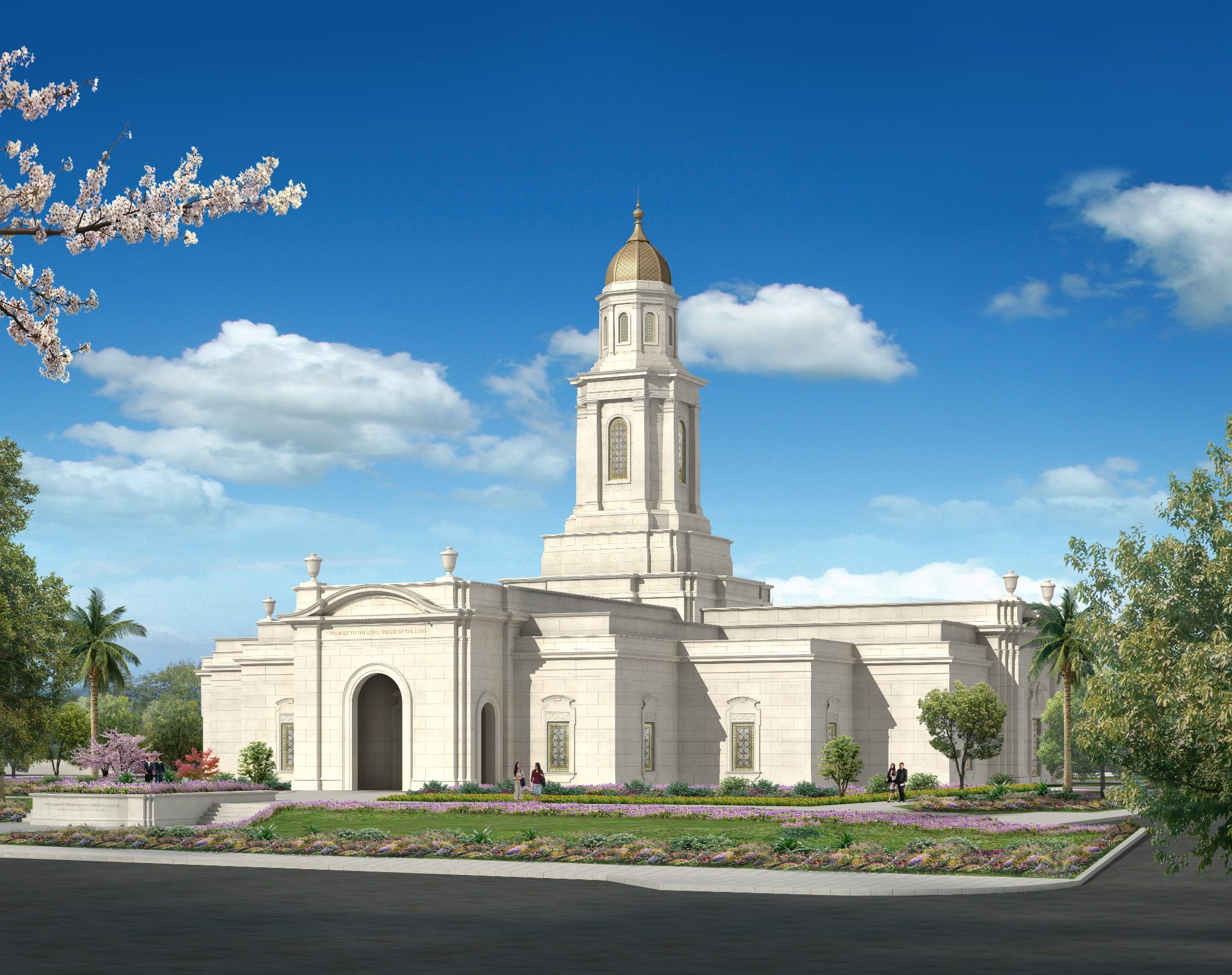 An artist's rendering of the Bacolod Philippines Temple.