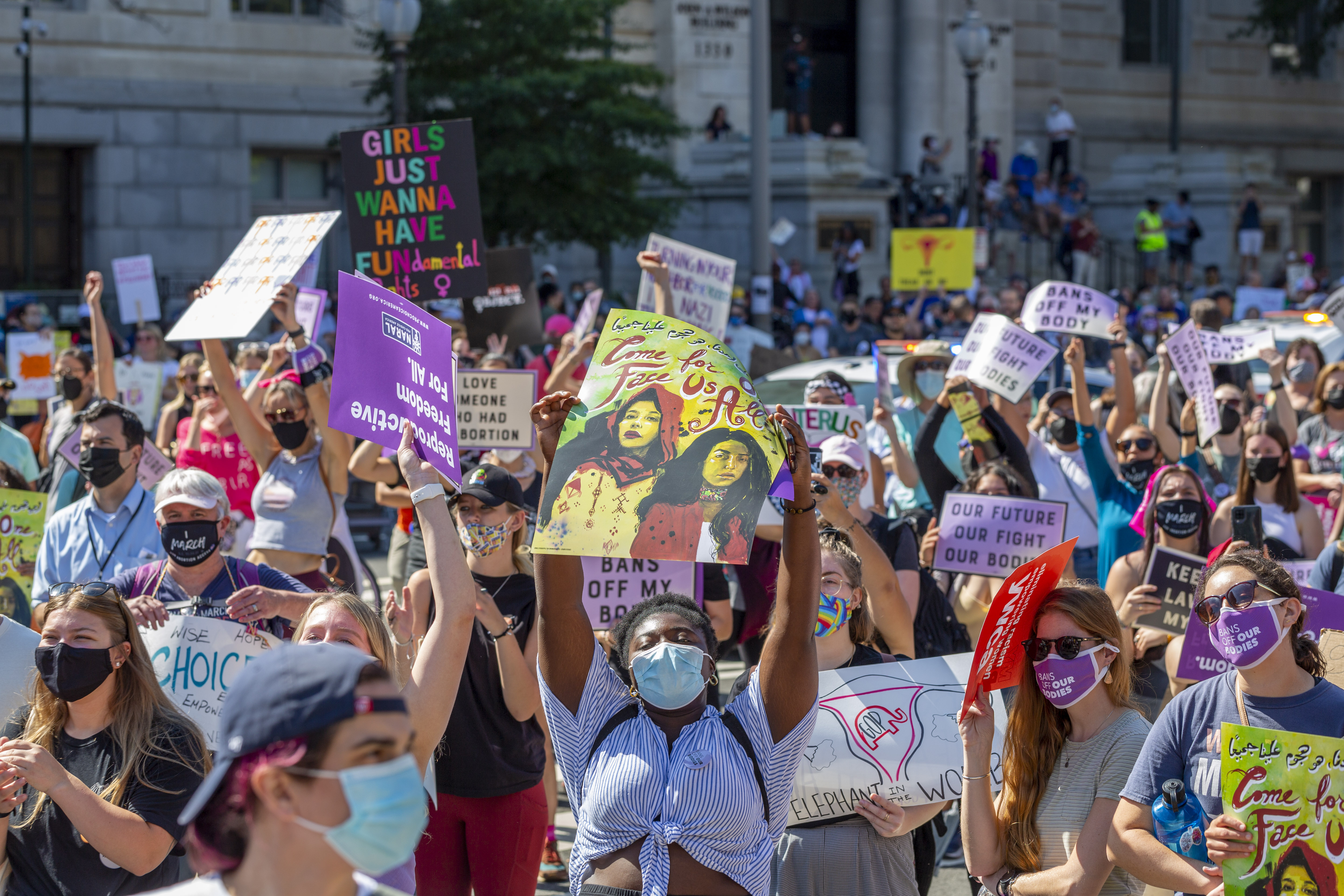 Rally for Abortion Justice on Saturday, Oct. 2, 2021 in Washington.