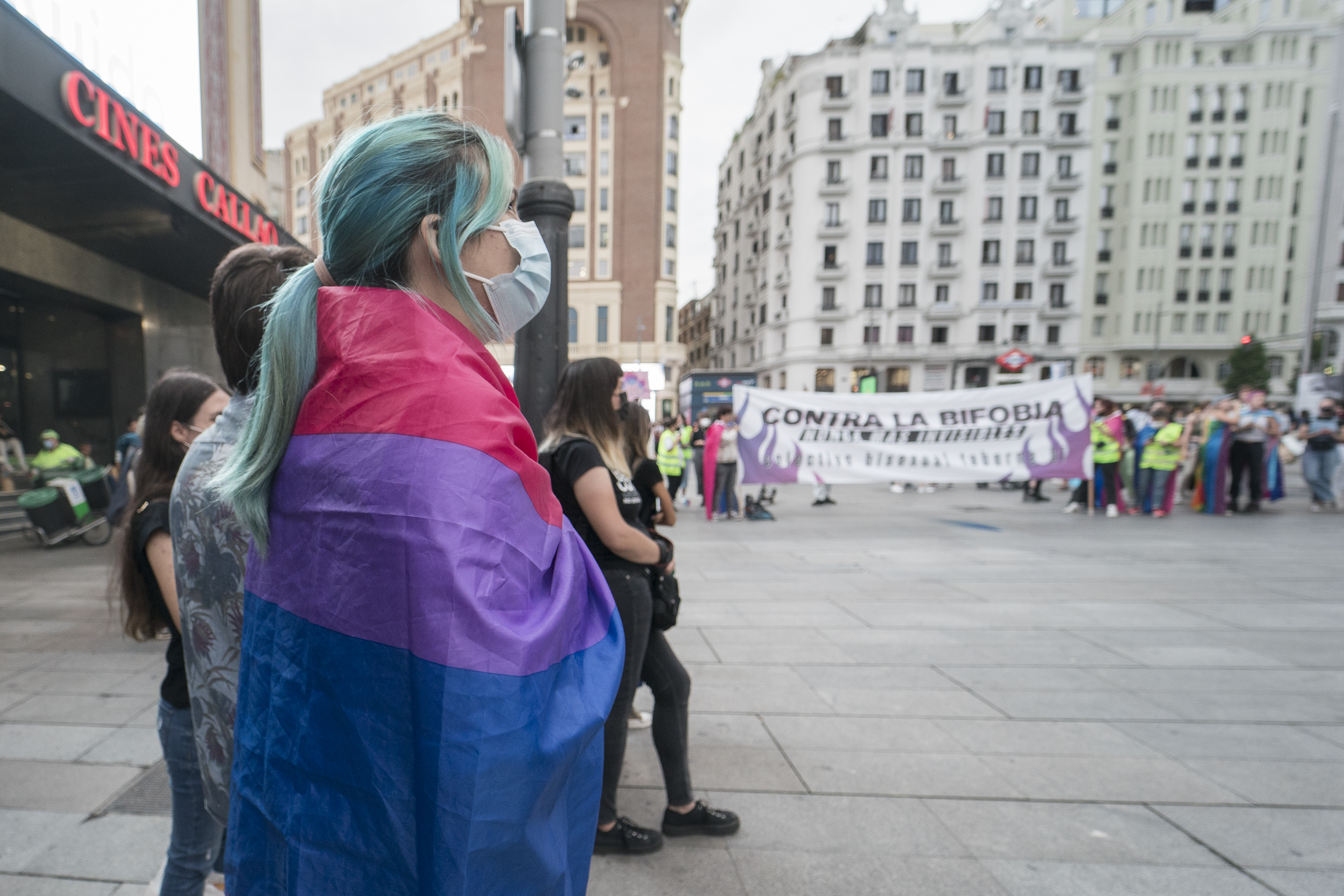 Rally In Madrid For International Bisexual Awareness Day