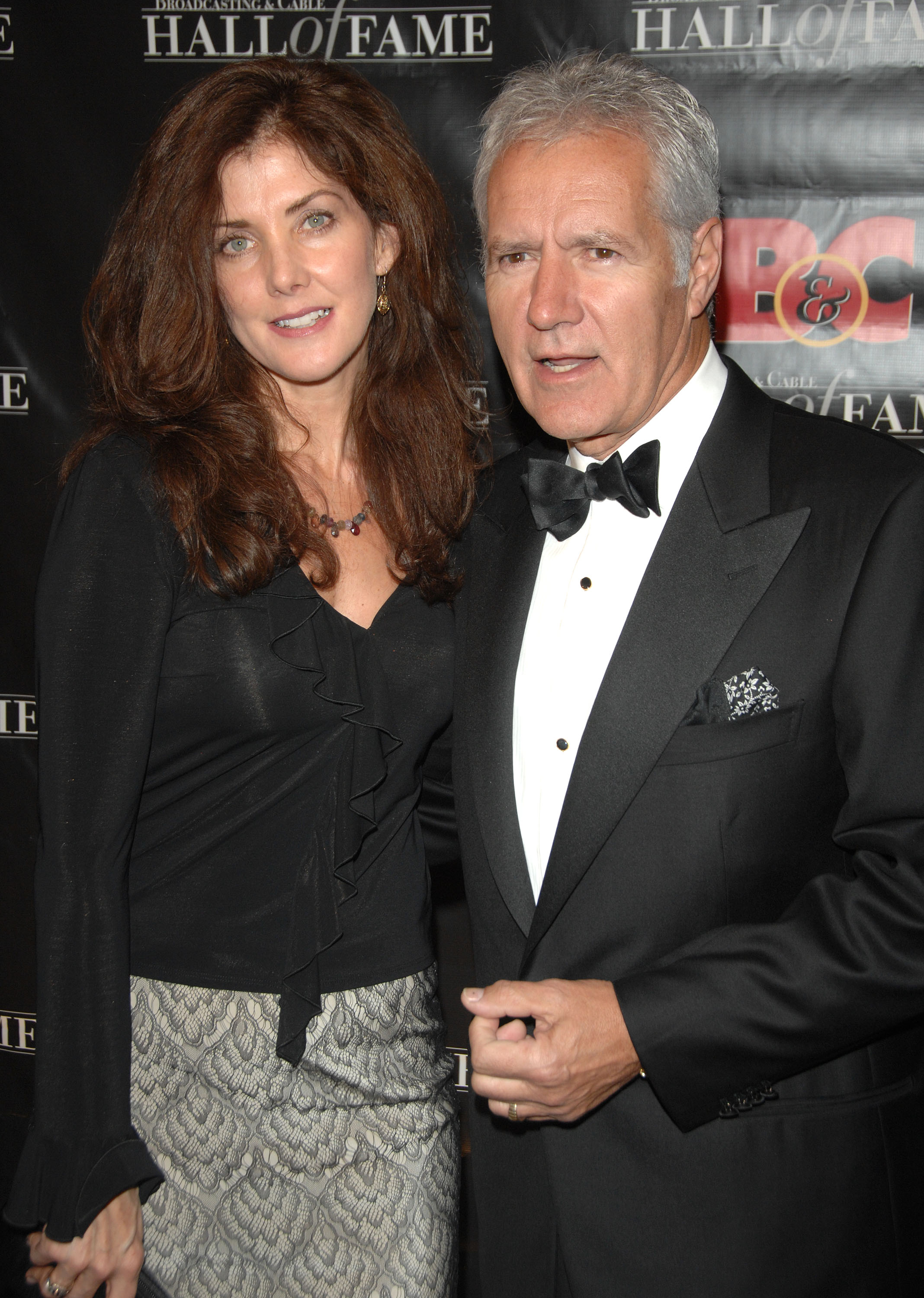 Alex Trebek and his wife, Jean Trebek, arrive at the 17th annual Broadcasting and Cable Hall of Fame awards in New York.