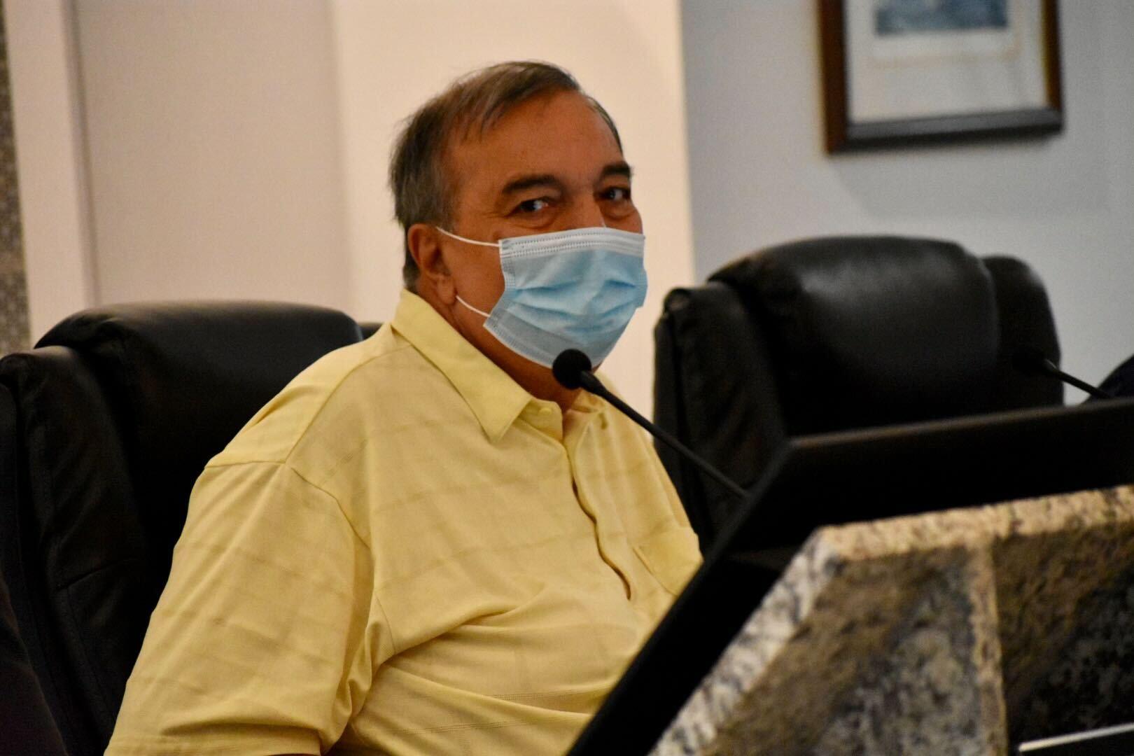 Crestwood Mayor Lou Presta attends a village board meeting Thursday night.
