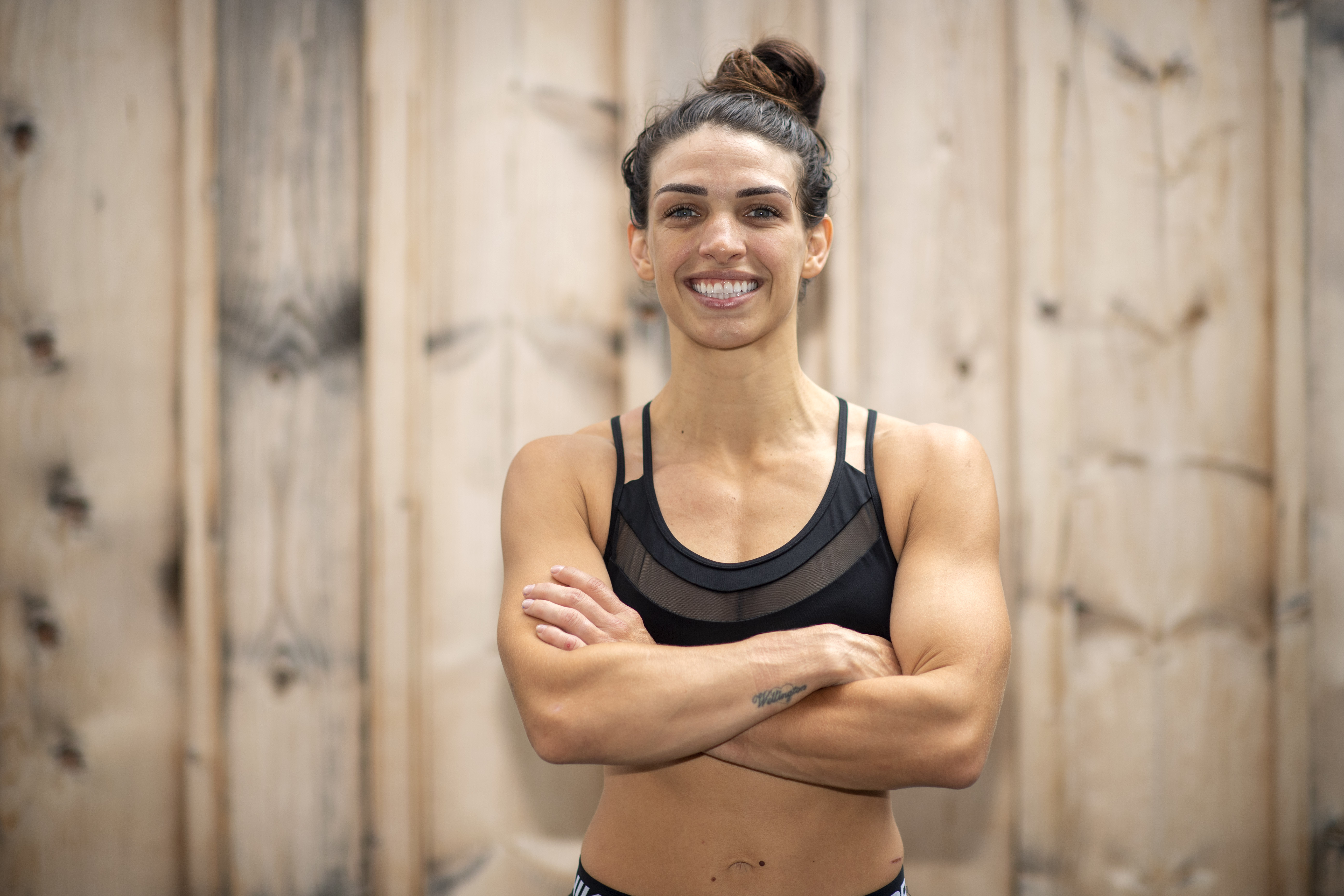 UFC fighter Mackenzie Dern works out at the RVCA Training Center in Costa Mesa