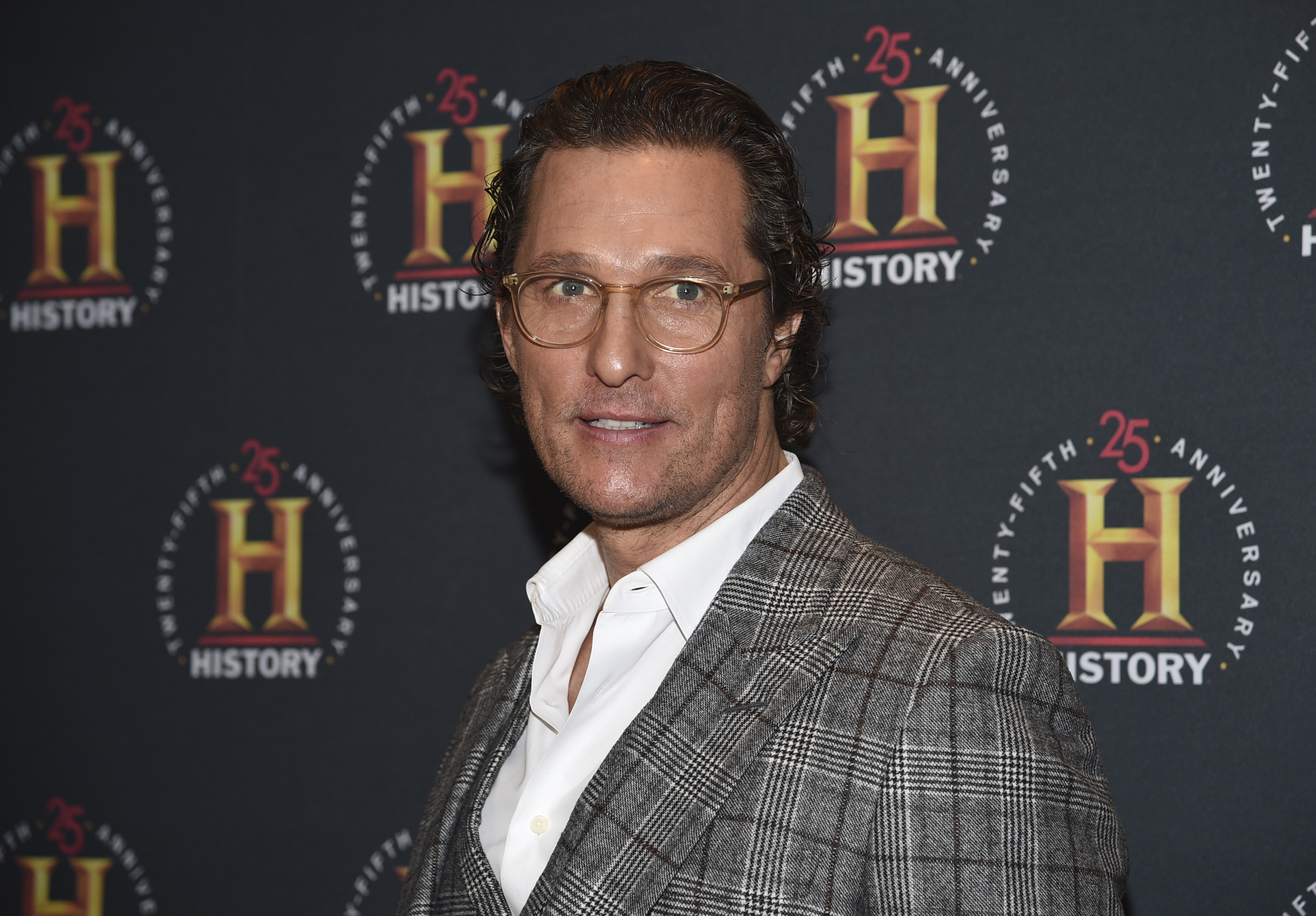 """Actor Matthew McConaughey attends A+E Network's """"HISTORYTalks: Leadership and Legacy"""" in New York,"""