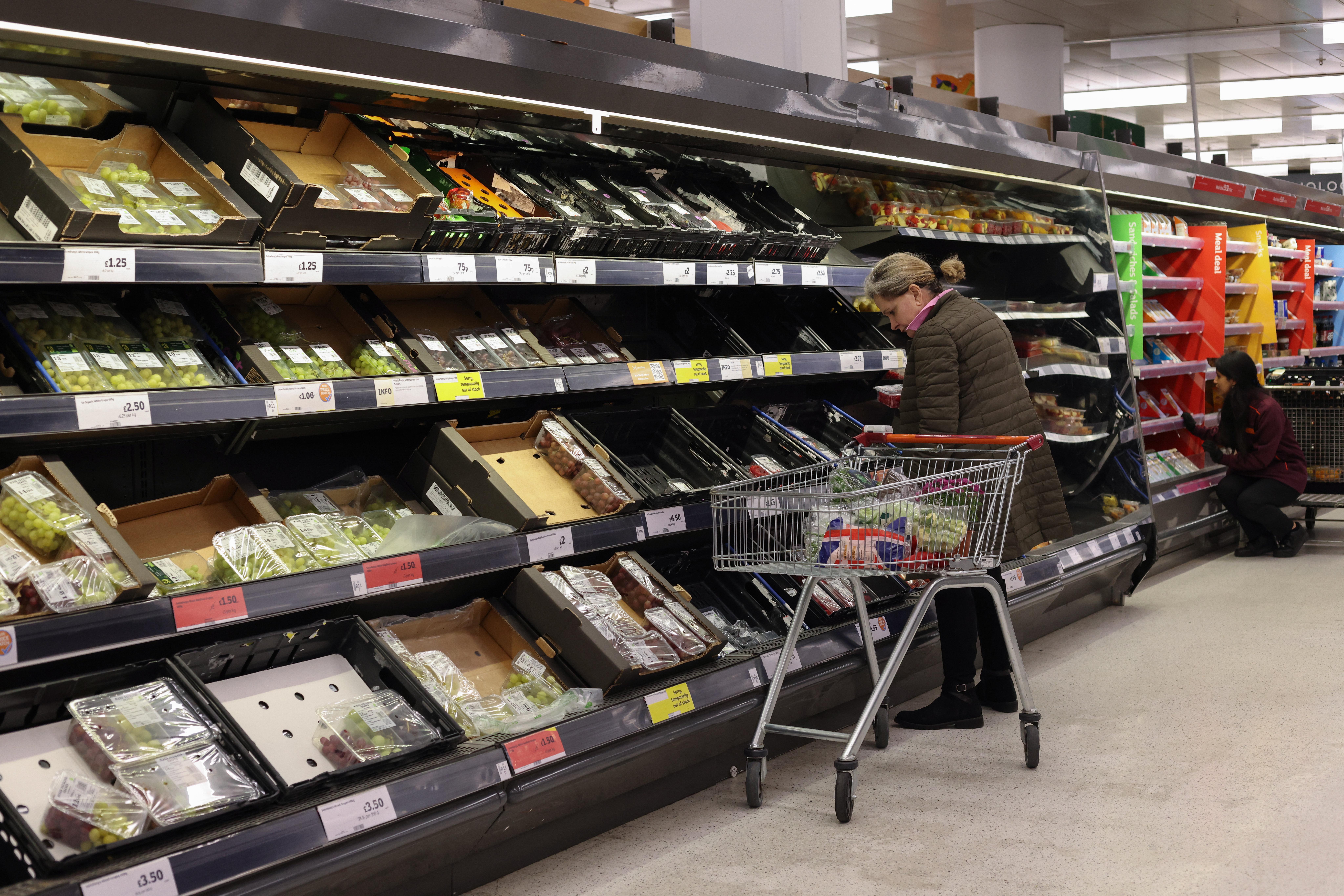 Empty Shelves Amid Supply Chain Disruptions Across UK