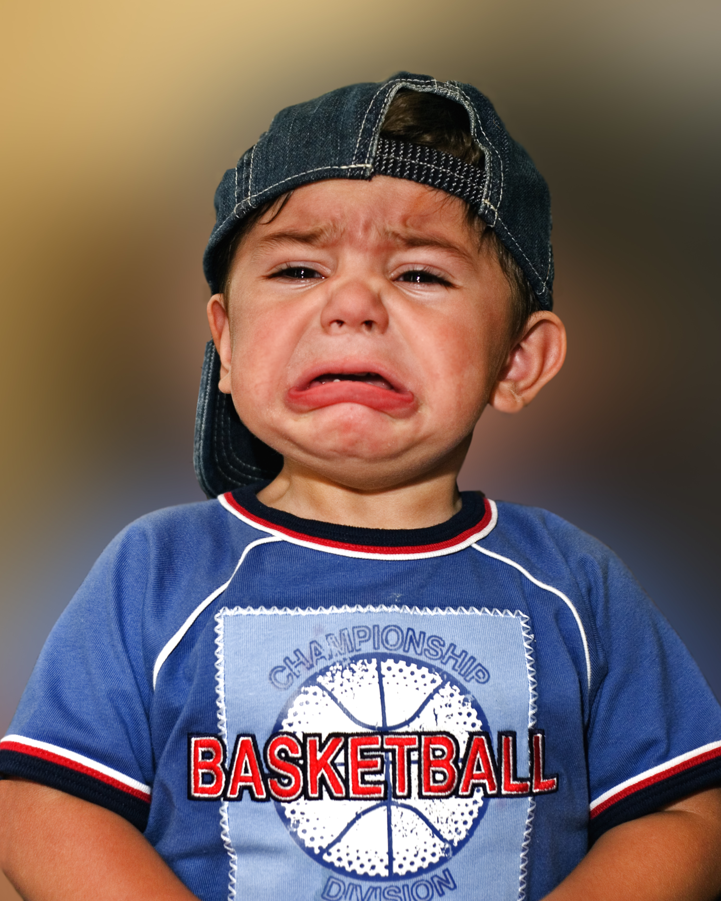 I want to play ball crying