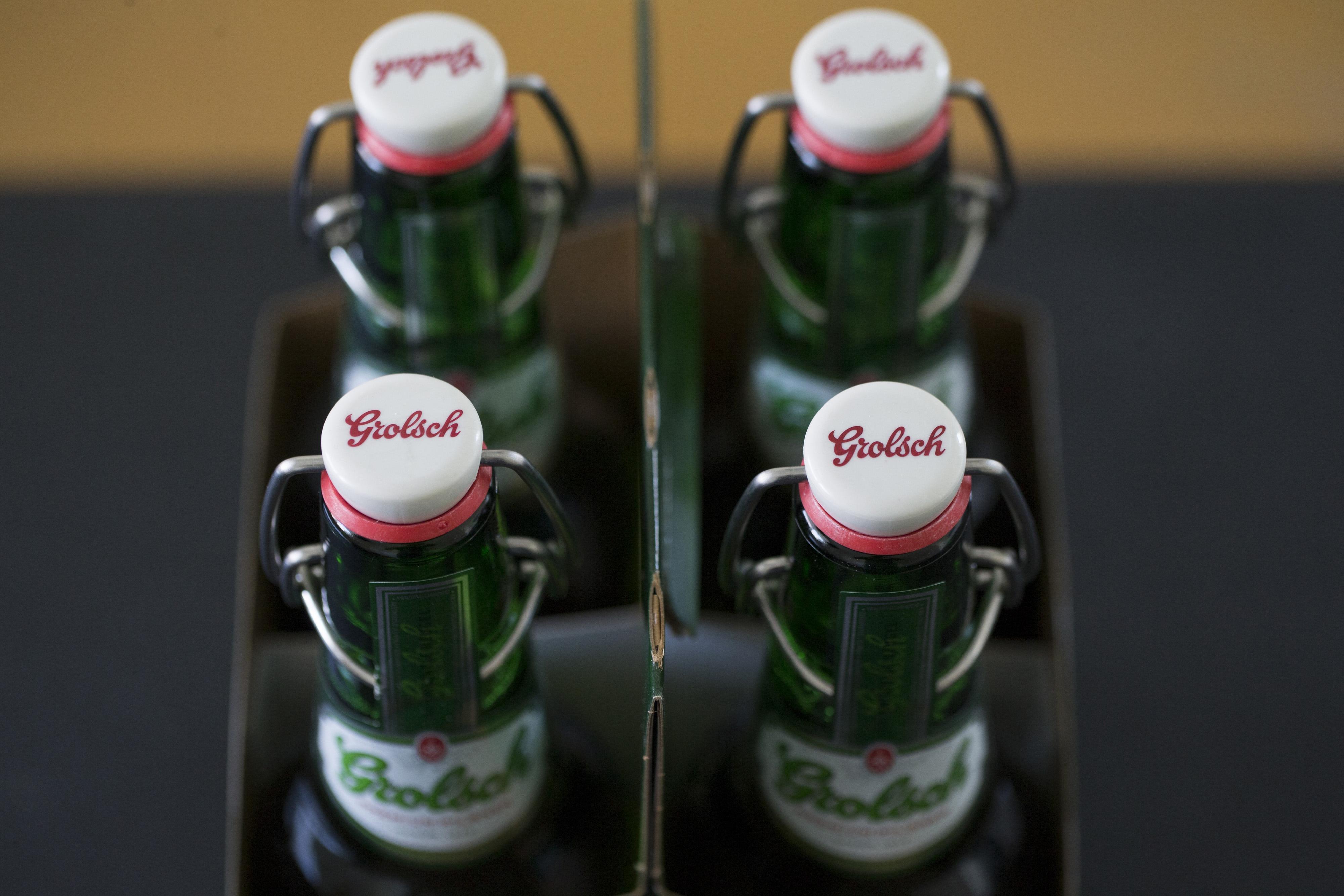Grolsch Beer Illustrations As Asahi Group Holdings Ltd. Makes Offer For European Beer Brand