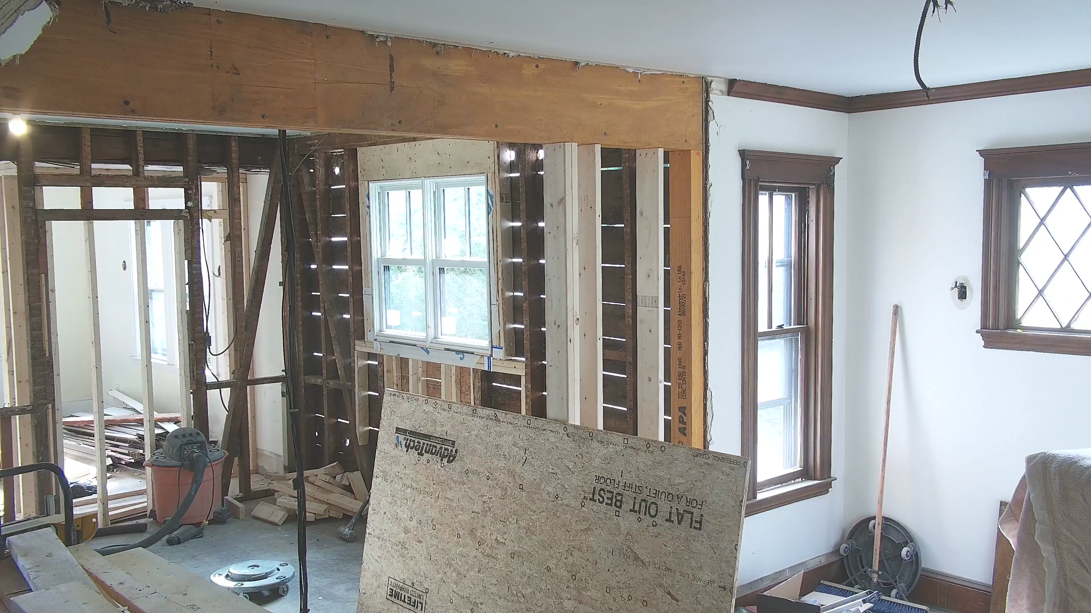 Interior webcam showing the West Roxbury project