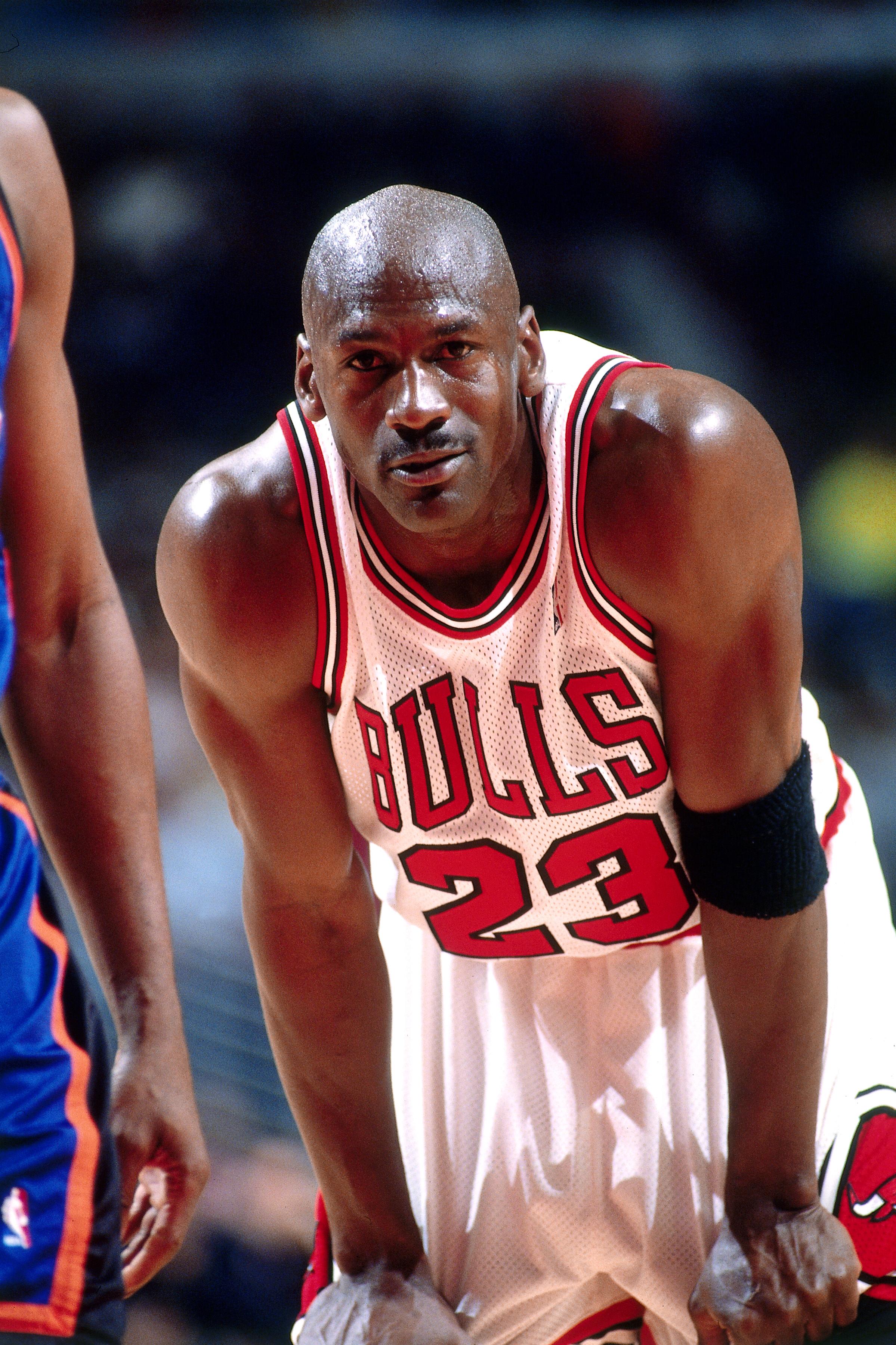 New York Knicks v Chicago Bulls Michael Jordan