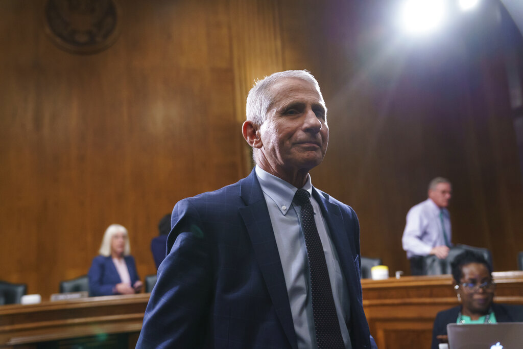 Dr. Anthony Fauci on Capitol Hill in Washington, D.C.