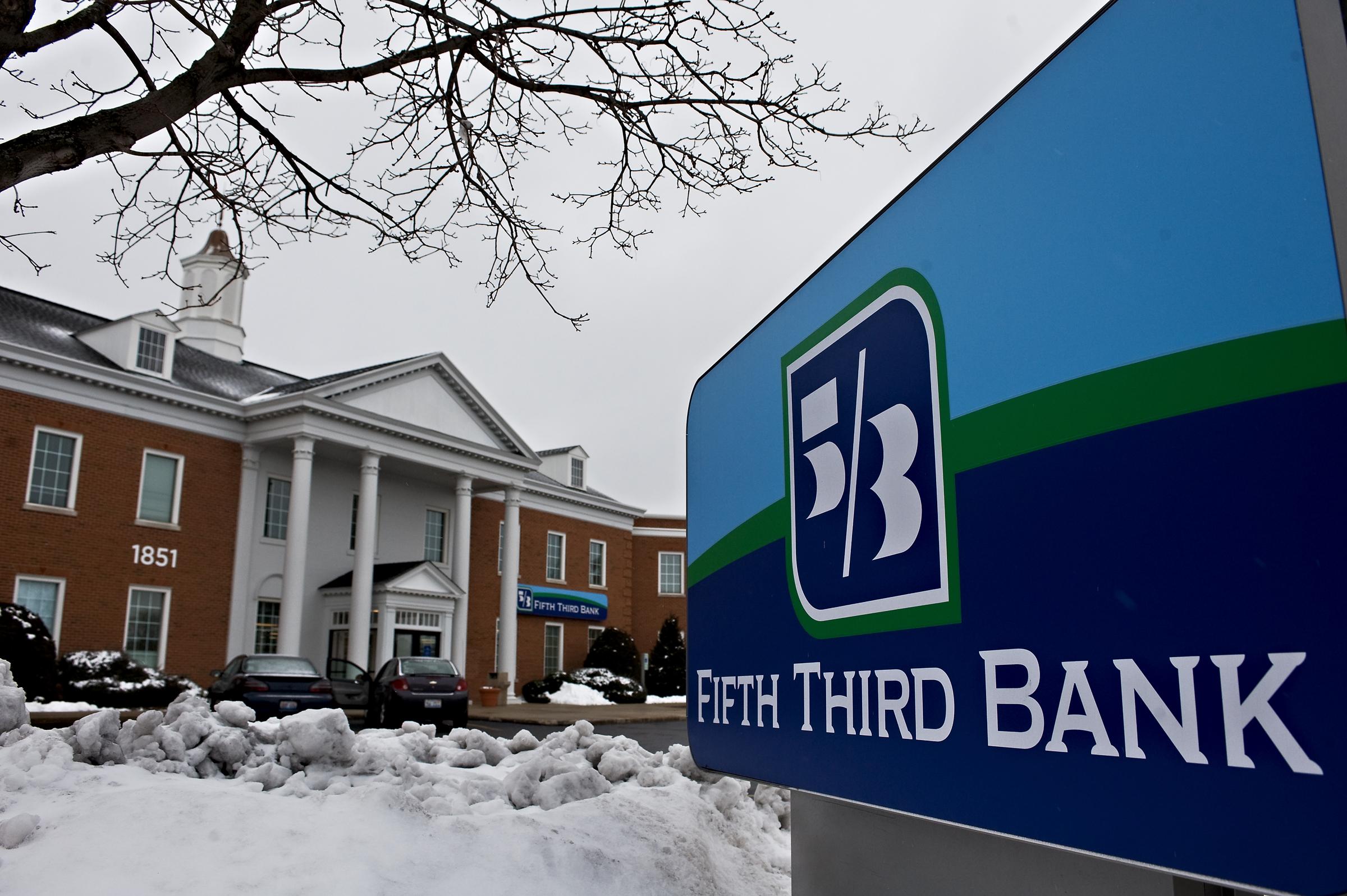 A Fifth Third Bank sign
