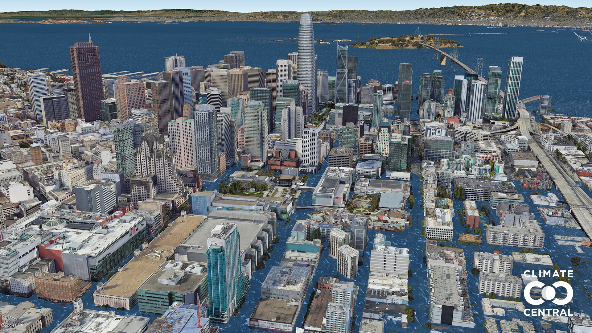 Projected future sea level atSouth of Market (SoMa)inSan Francisco,United Statesdue to human-caused global warming under 3 degrees Celsius of global warming.