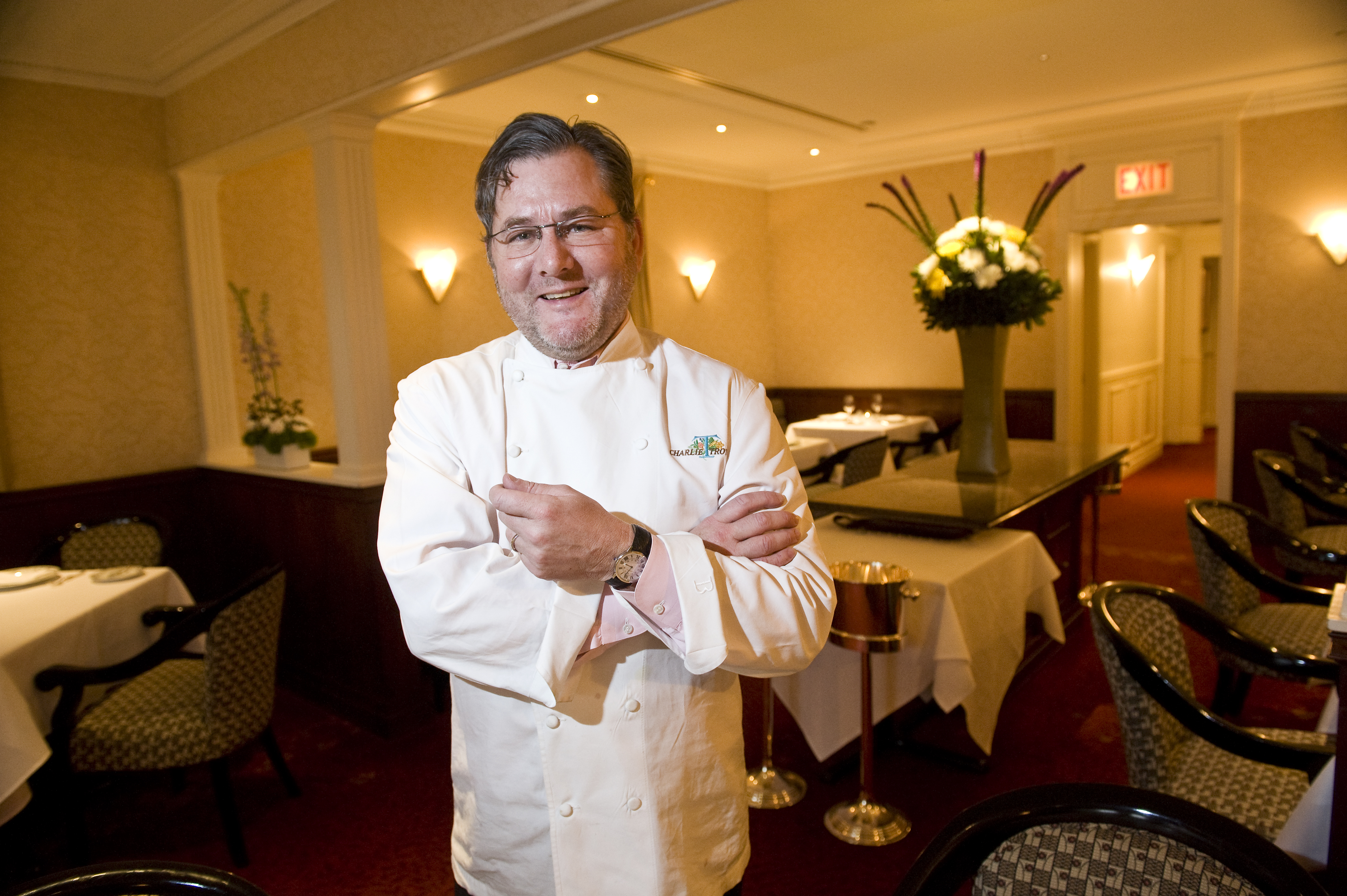 Chef Charlie Trotter is photographed in the dining room of his restaurant at 816 W. Armitage in 2011.