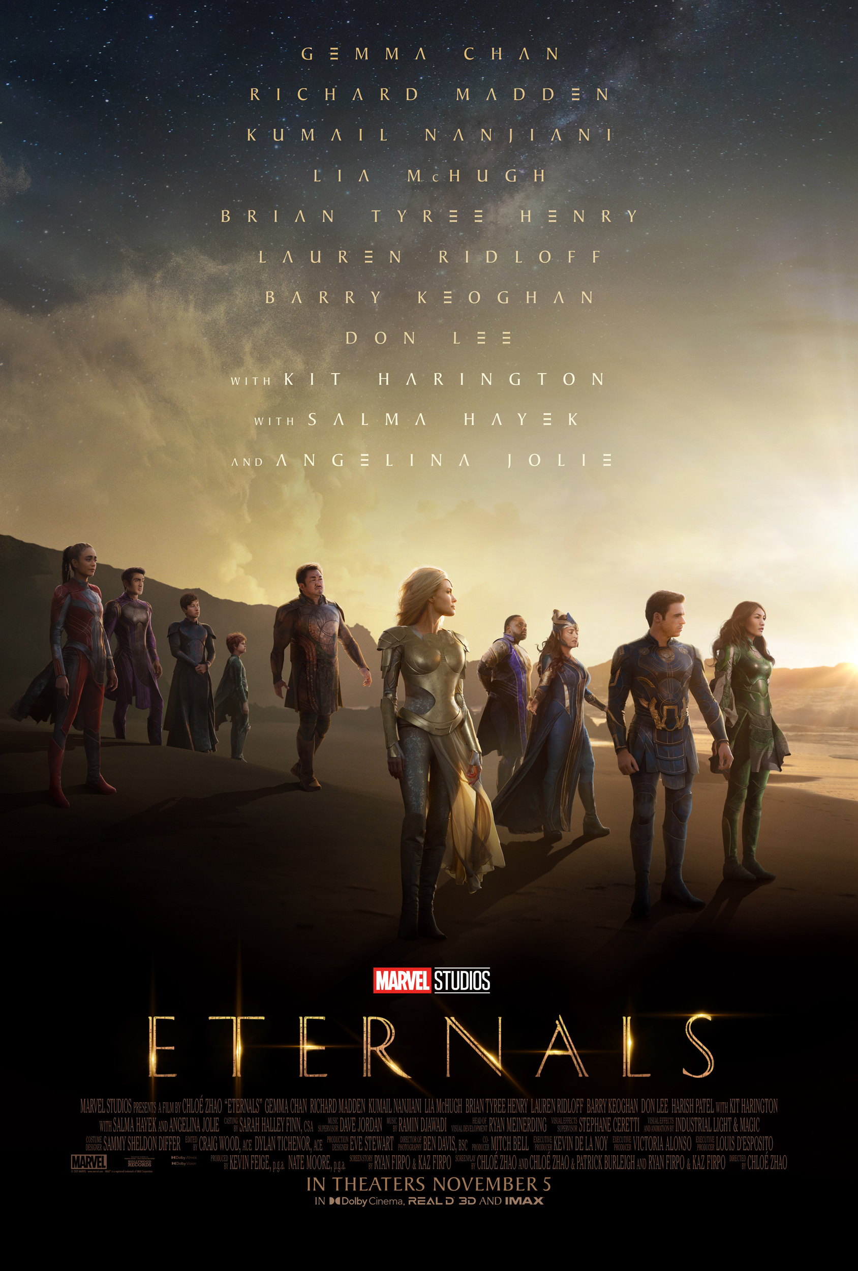 """The new """"Eternals"""" poster from Marvel Studios."""
