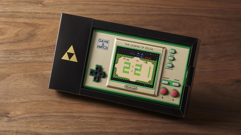 Game & Watch: The Legend of Zelda handheld in its special case