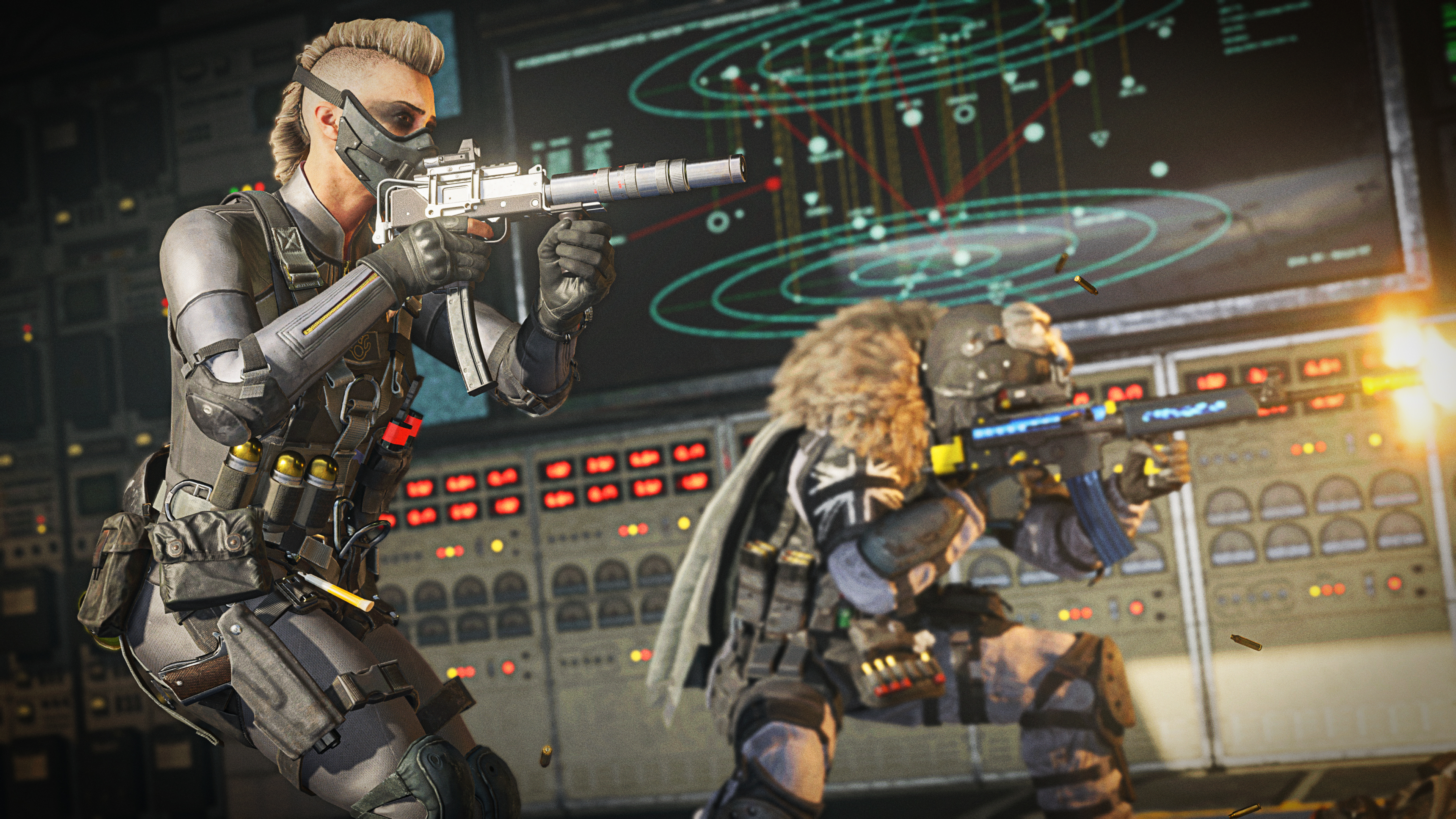 Two Call of Duty: Warzone players in a gunfight