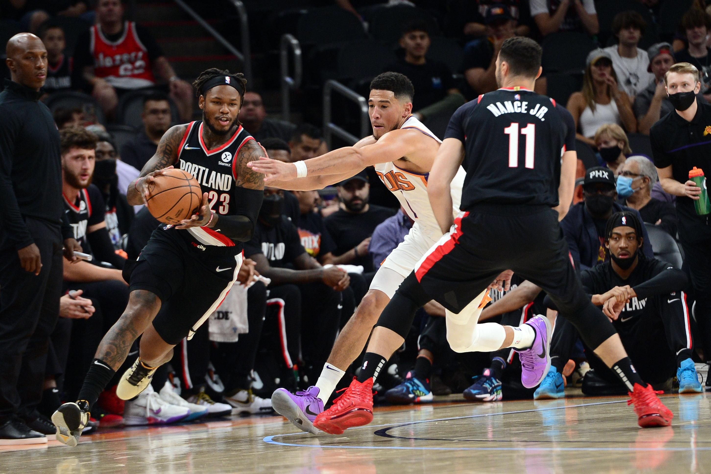 NBA: Preseason-Portland Trail Blazers at Phoenix Suns