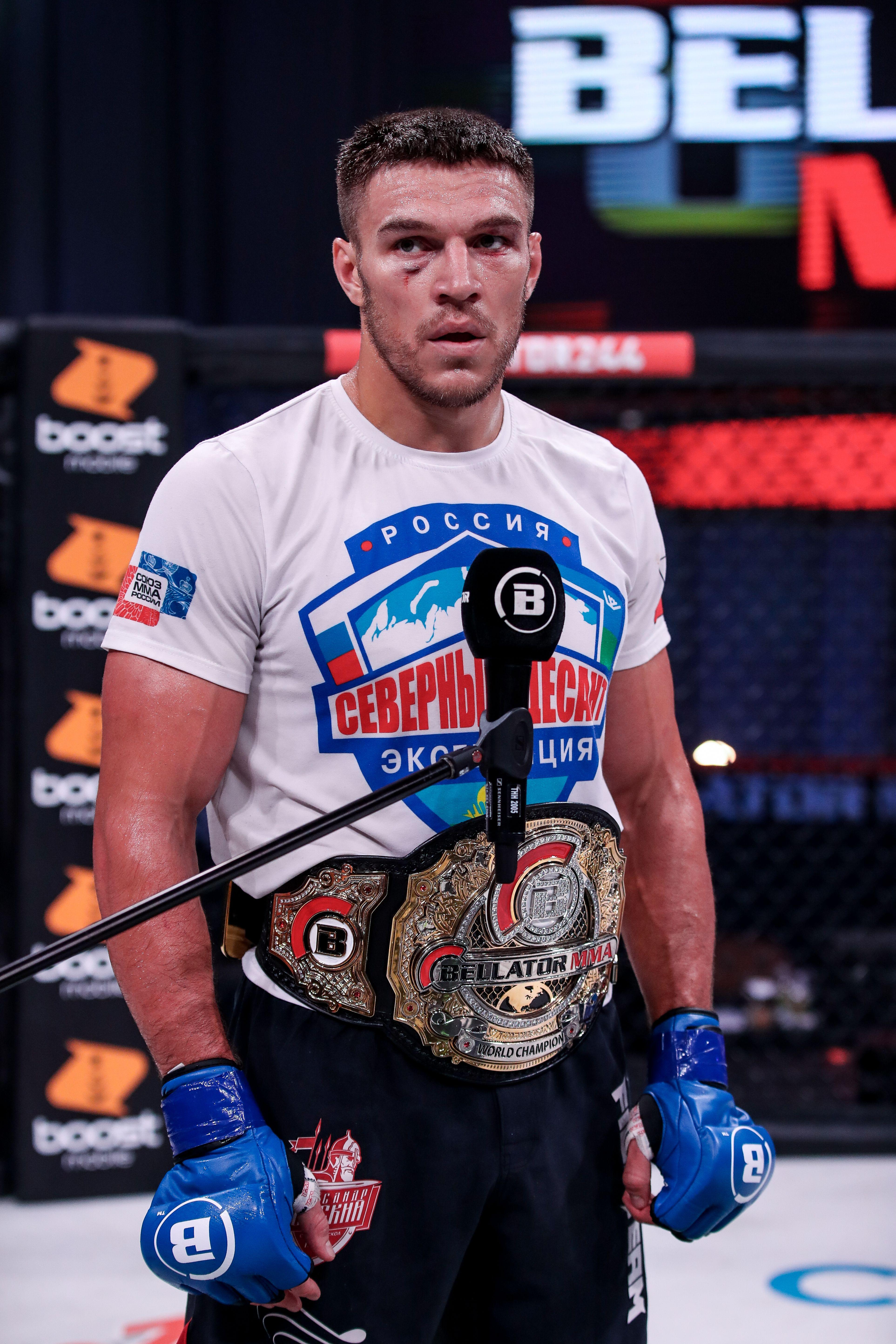 Bellator MMA light heavyweight champion Vadim Nemkov.