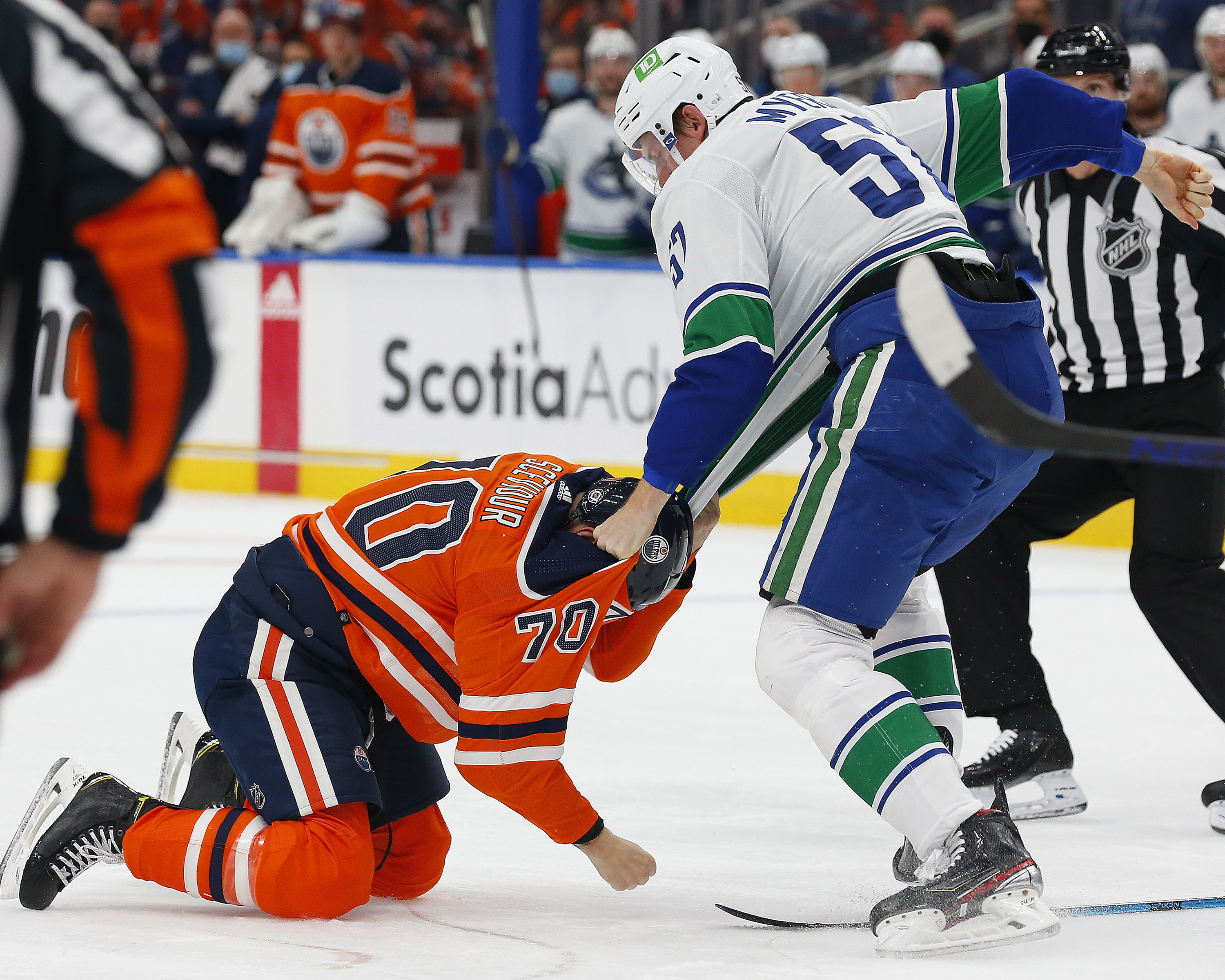 NHL: Vancouver Canucks at Edmonton Oilers