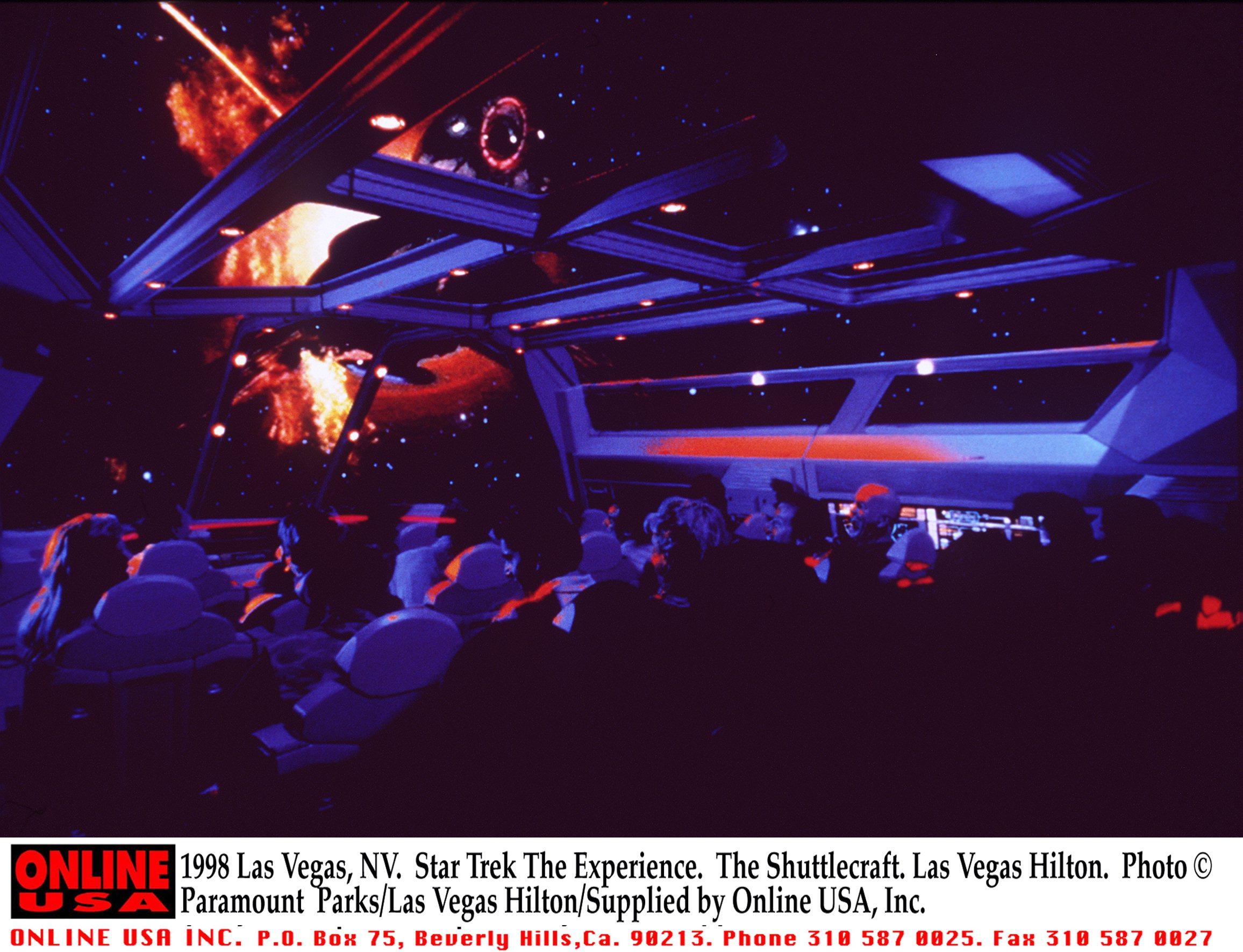 1998 Las Vegas, NV. Star Trek The Experience. The Shuttlecraft. Las Vegas Hilton. Paramount Parks/La