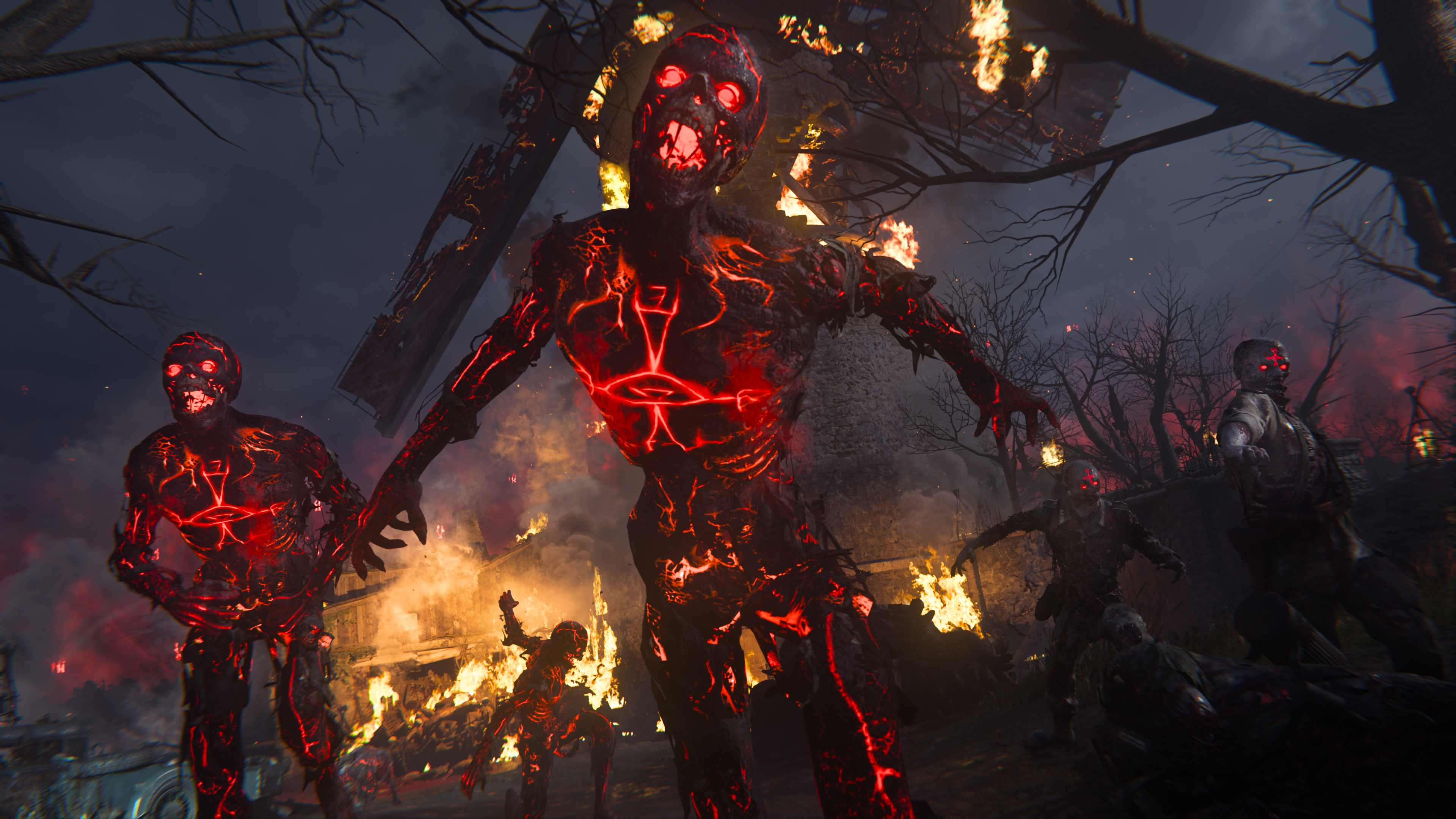 A special Zombie runs toward the camera in Call of Duty: Vanguard