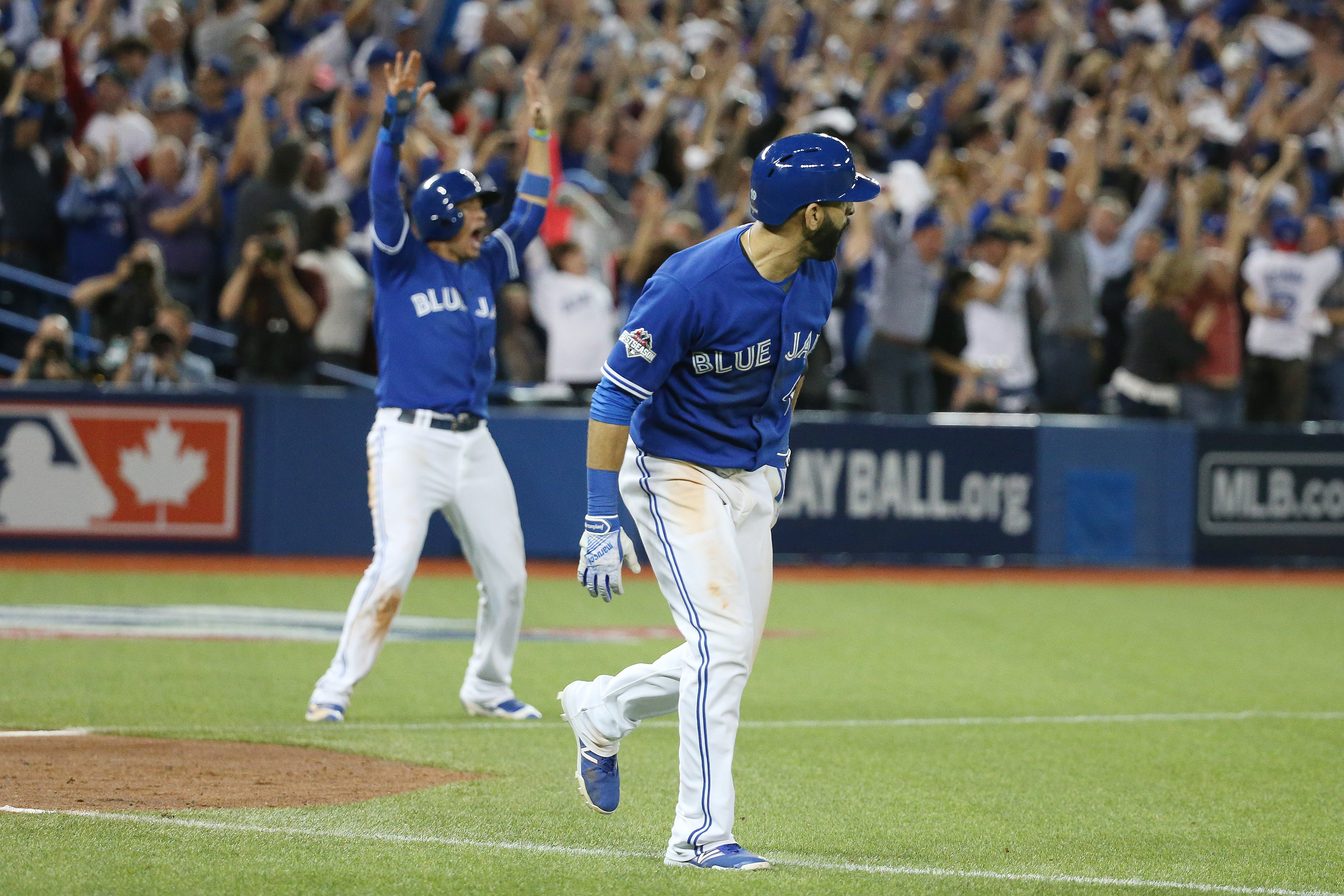 The Toronto Blue Jays and Texas Rangers play game five of the MLB American League Division Series