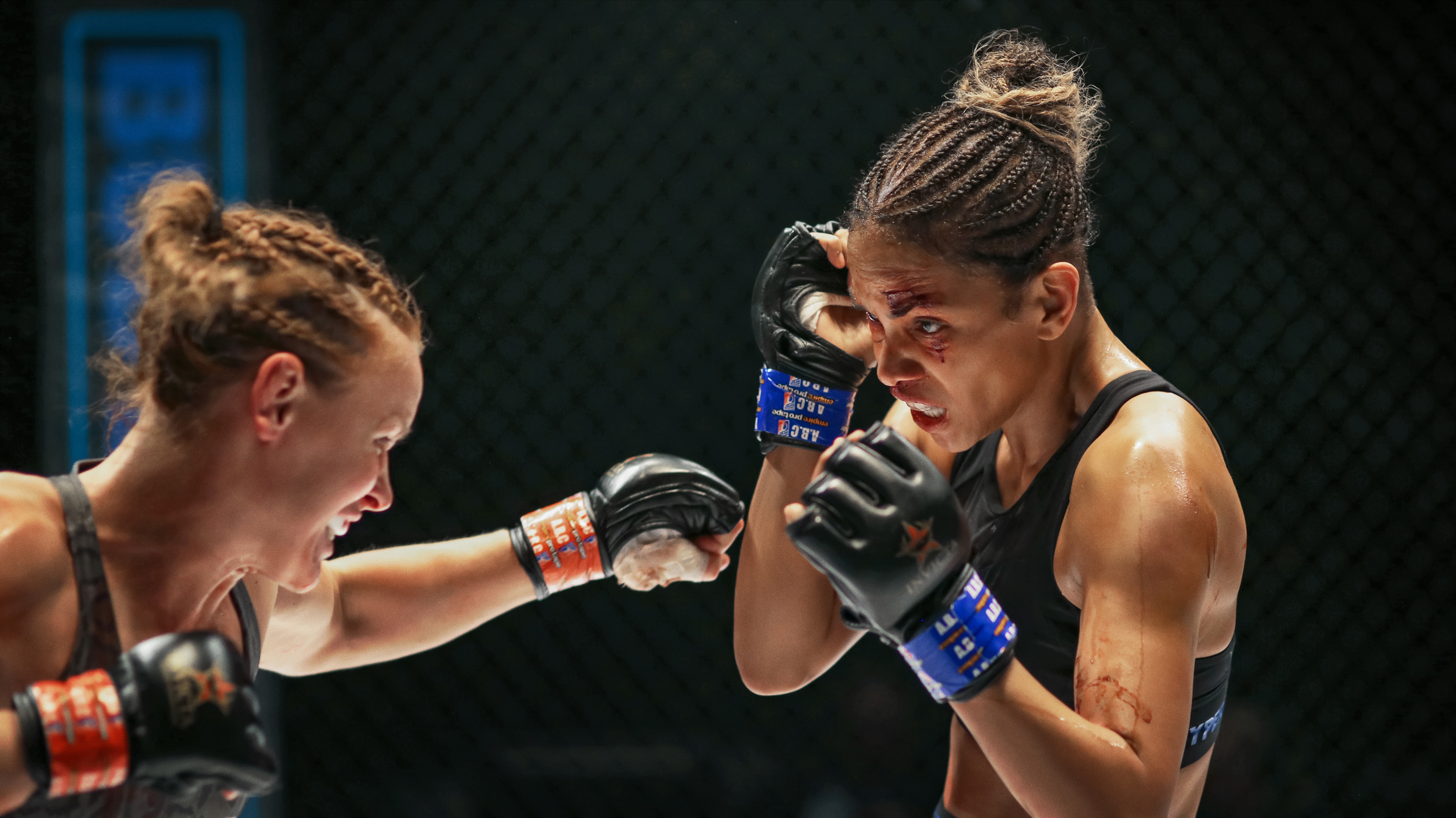Halle Berry takes a punch in the MMA ring in Bruised