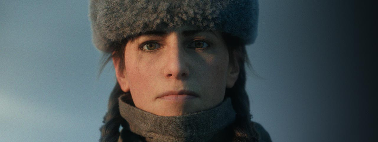 A female soldier stares forward from Call of Duty: Vanguard